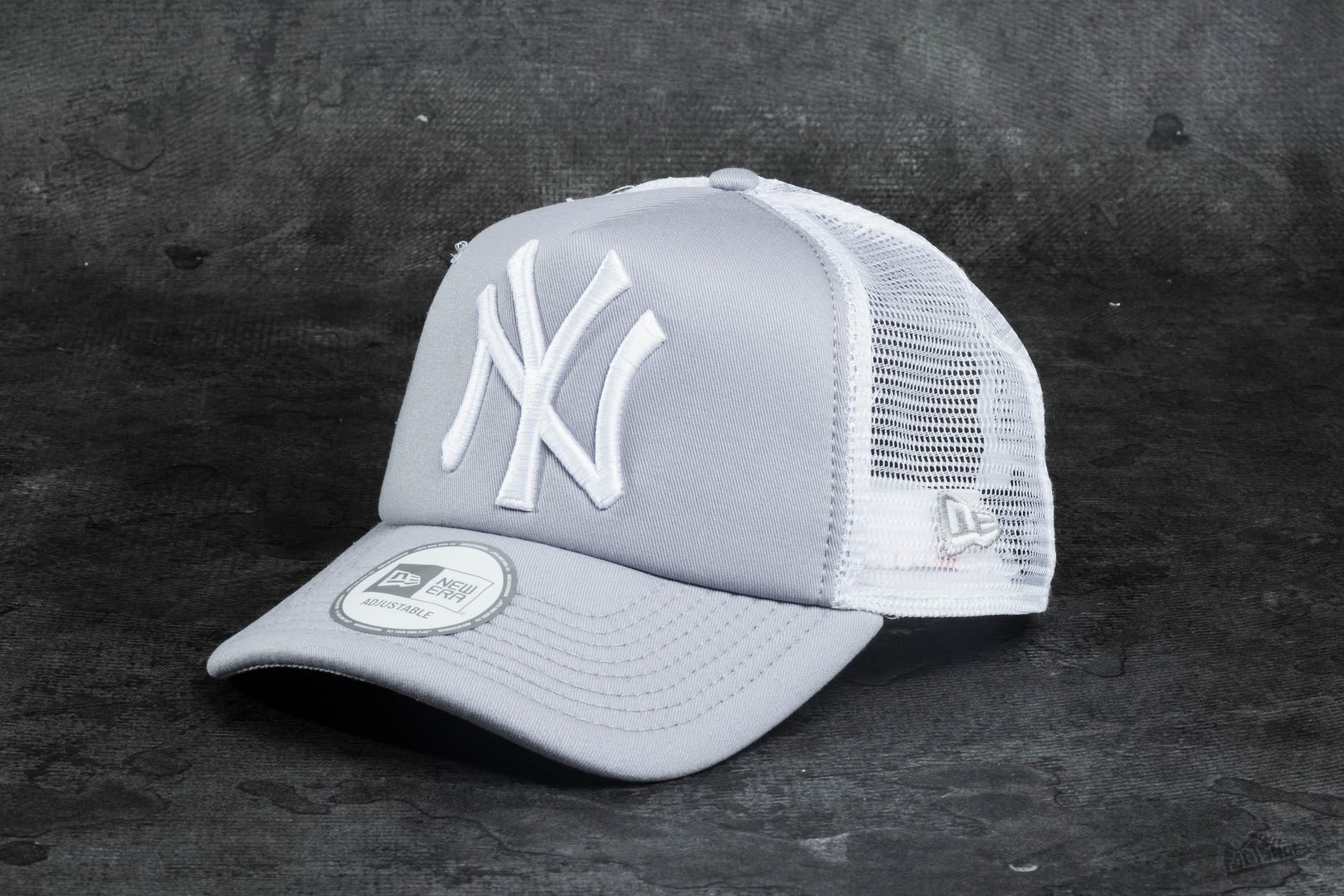 737a4b192cf New Era Clean Trucker New York Yankees Grey  White