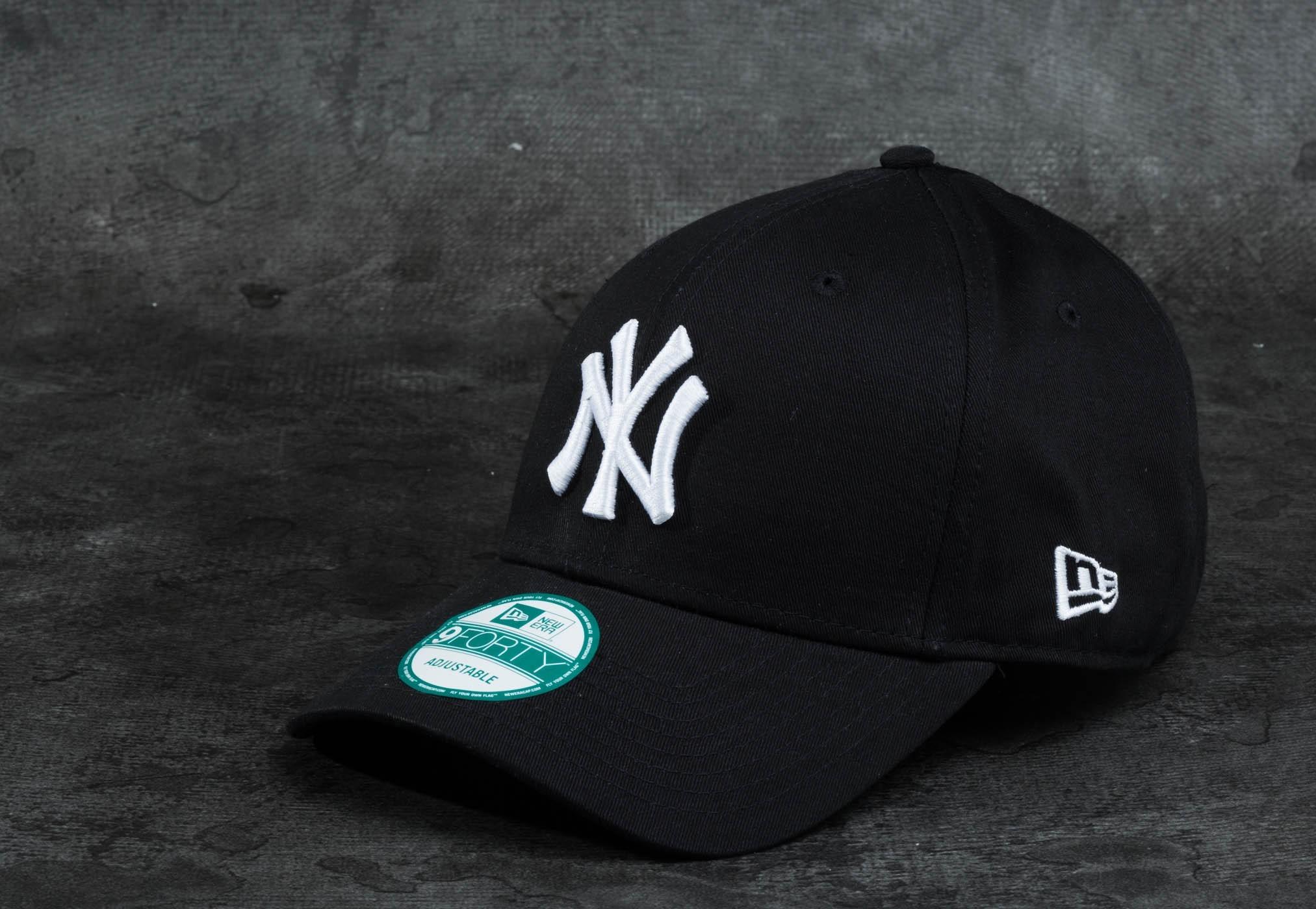 New Era 9Forty League Basic New York Yankees Cap Black/ White univerzálna