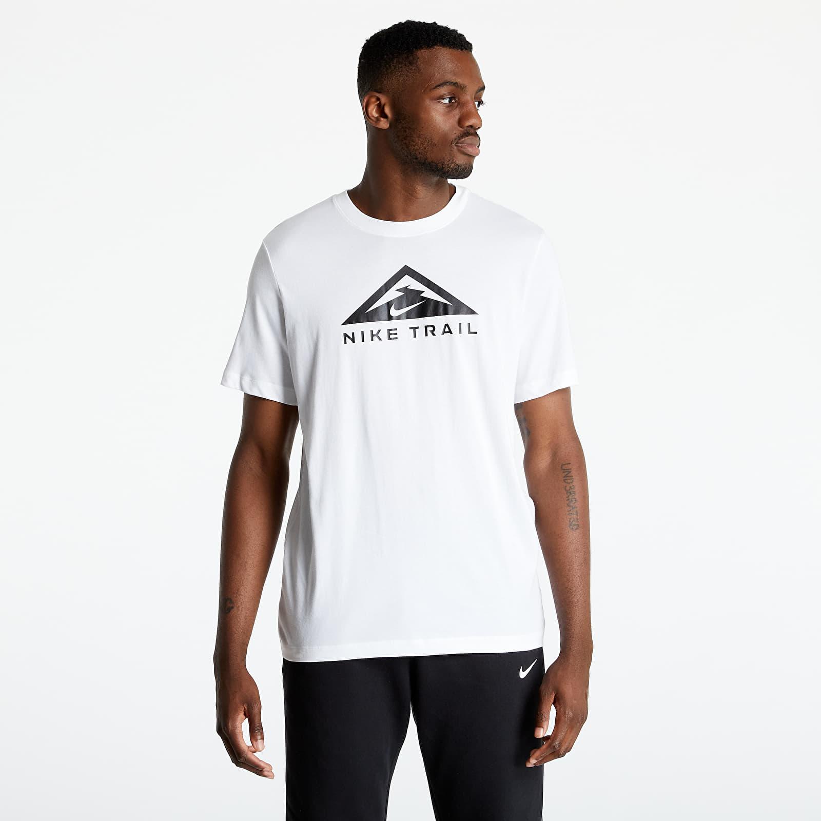 Nike Dri-Fit Short Sleeved Tee Trail White S