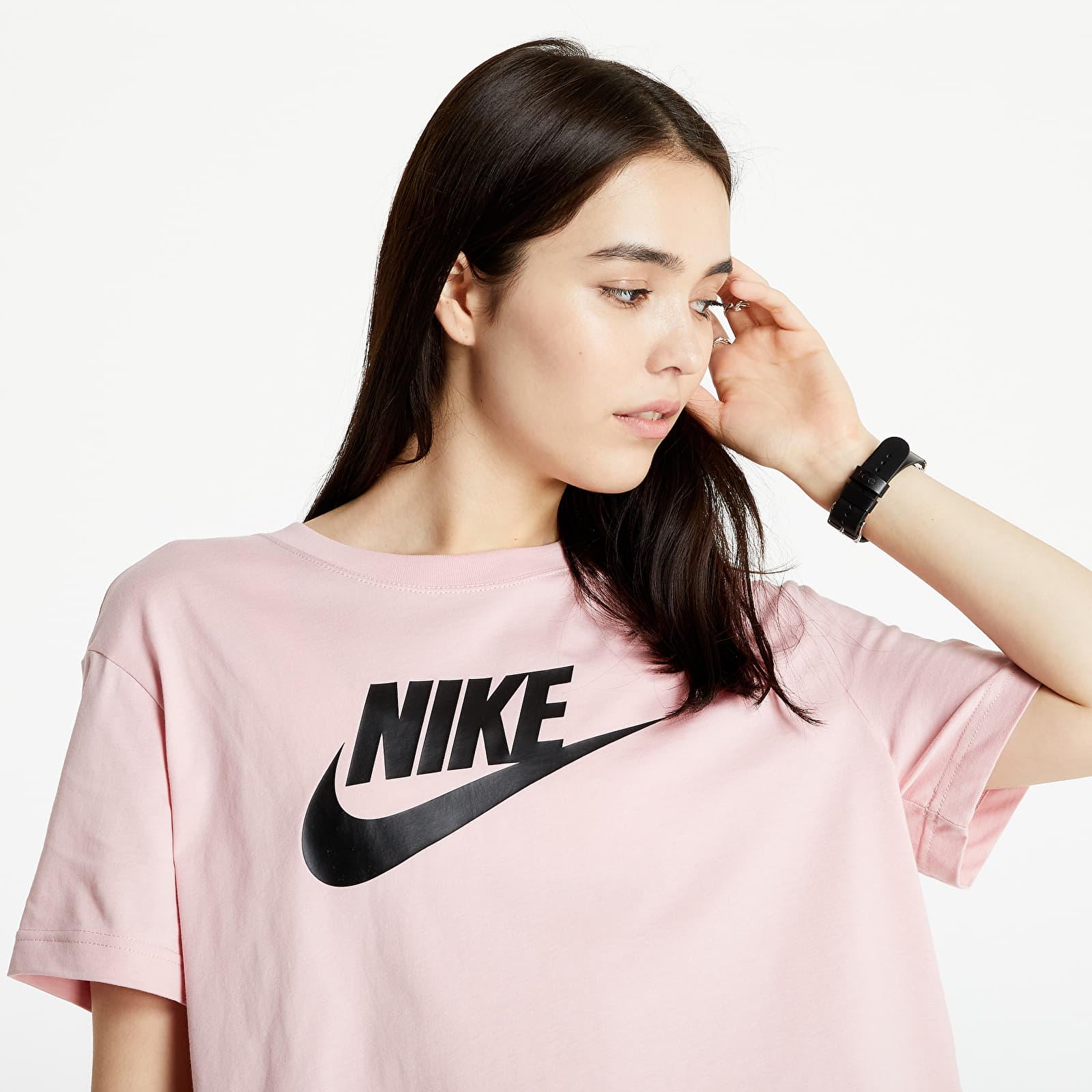 Nike Sportswear W Tee Essential Crop Icon Ftr Pink Glaze/ Black S