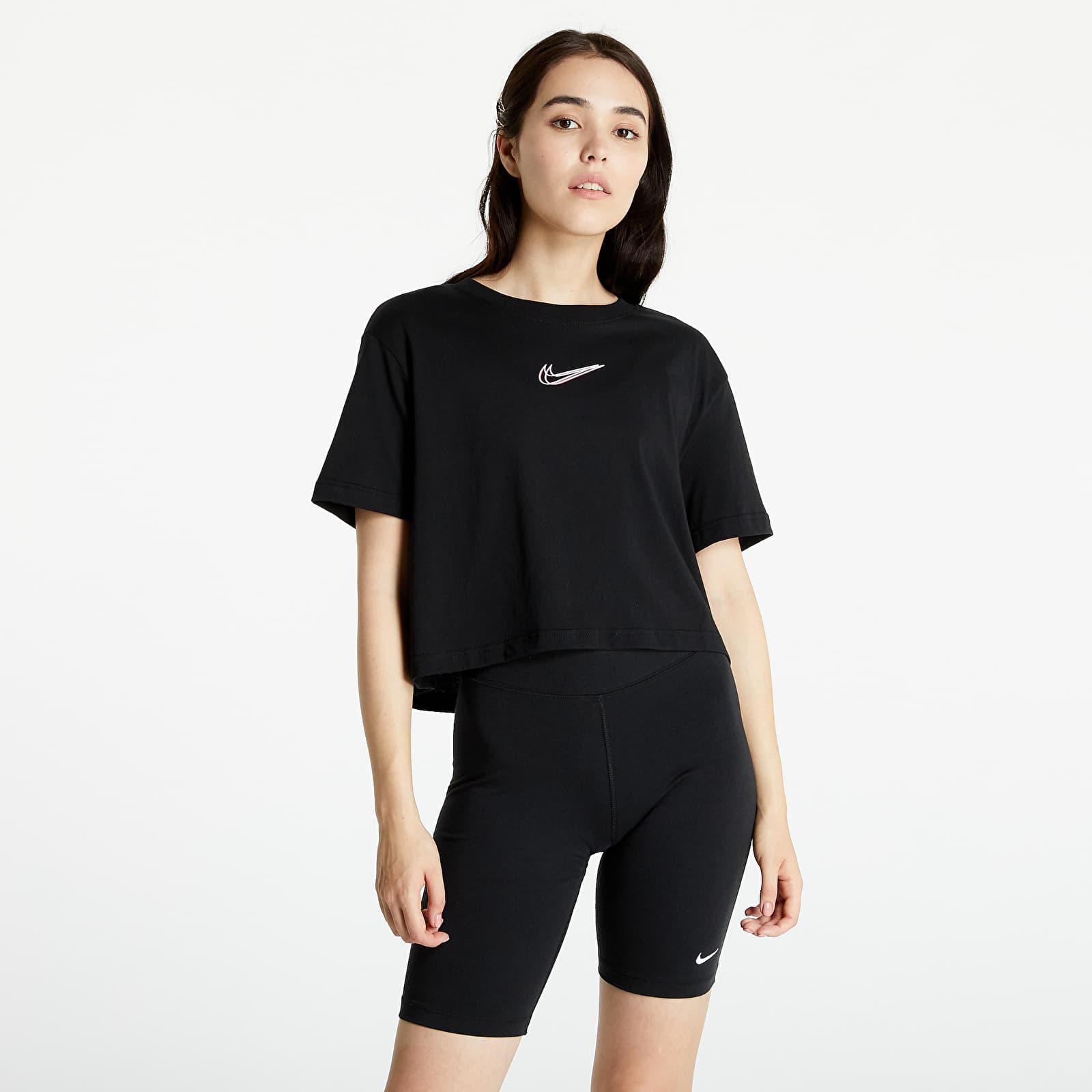 Nike Sportswear W Crop Tee Print Black S