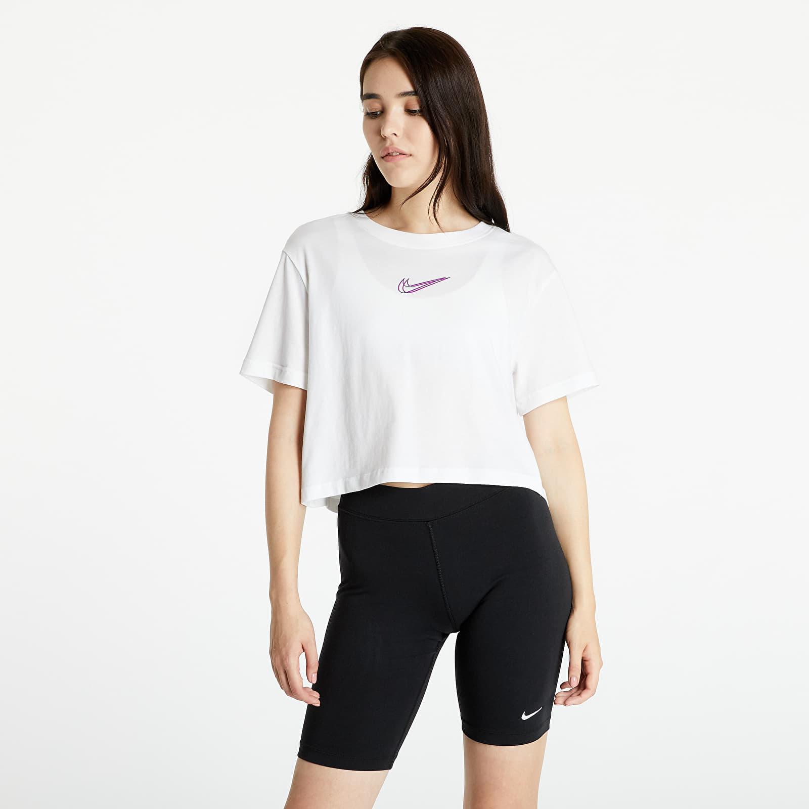 Nike Sportswear W Crop Tee Print White S