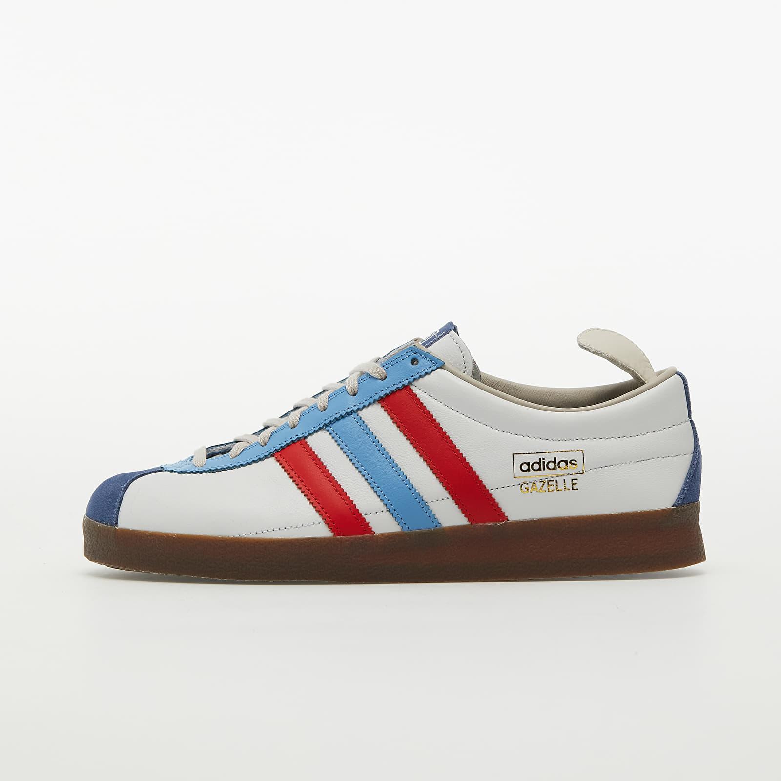 adidas Gazelle Vintage Crystal White/ Vivid Red/ Light Blue | Footshop