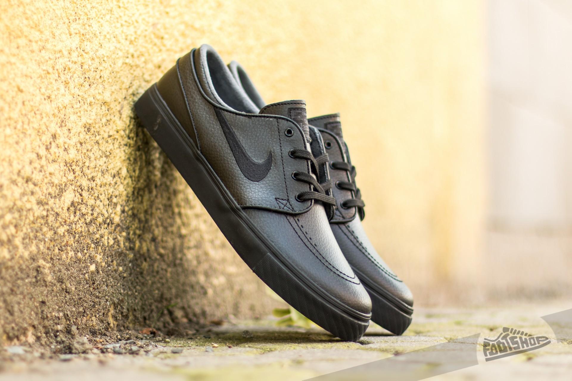 amortiguar tenaz Empleado  Men's shoes Nike Zoom Stefan Janoski L Black/ Black- Black- Anthracite |  Footshop