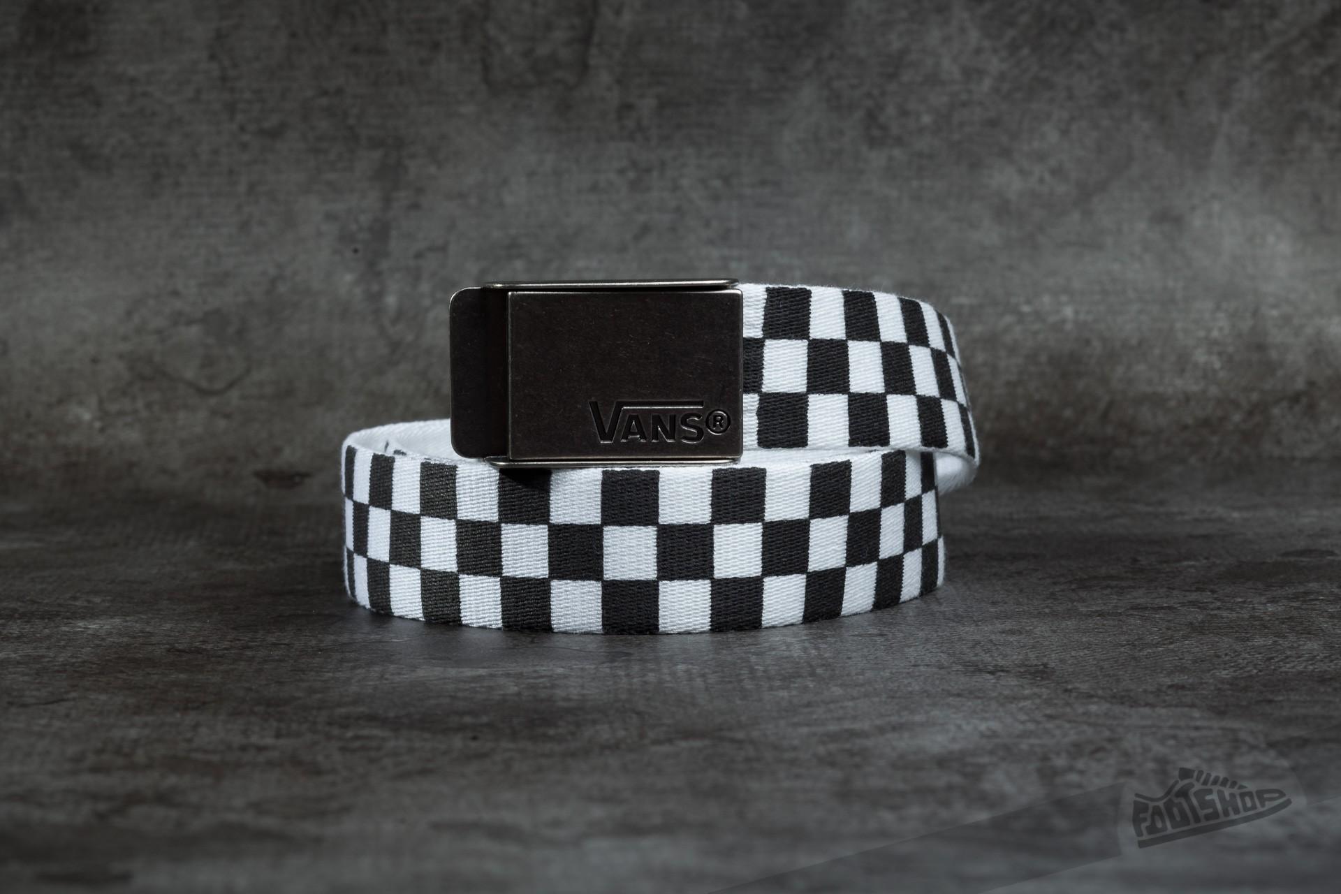 6b75fc7ae1f Vans Deppster Web Belt Black White