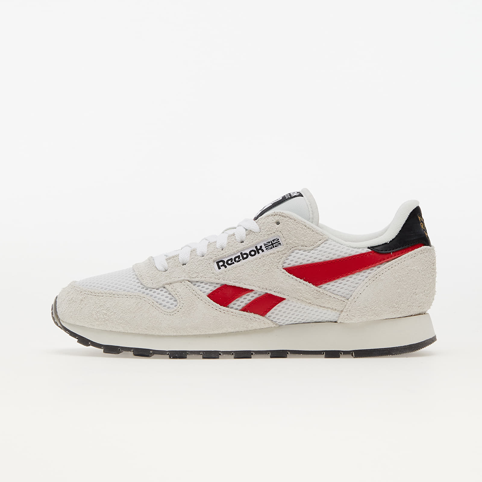 Reebok Classic Leather Pure Grey/ Vector Red/ Gold Metallic EUR 44