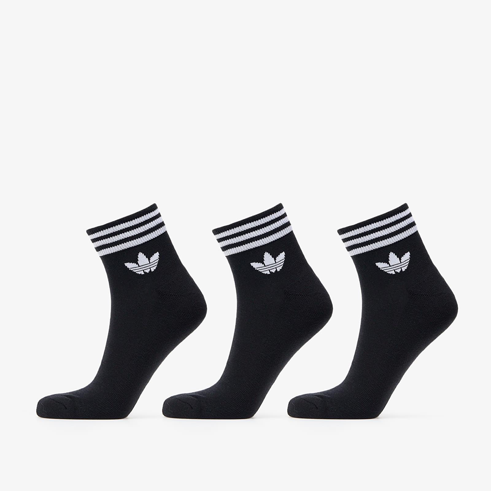 adidas Originals Trefoil Ankle Socks (3 Pairs) Black/ White EUR 39-42