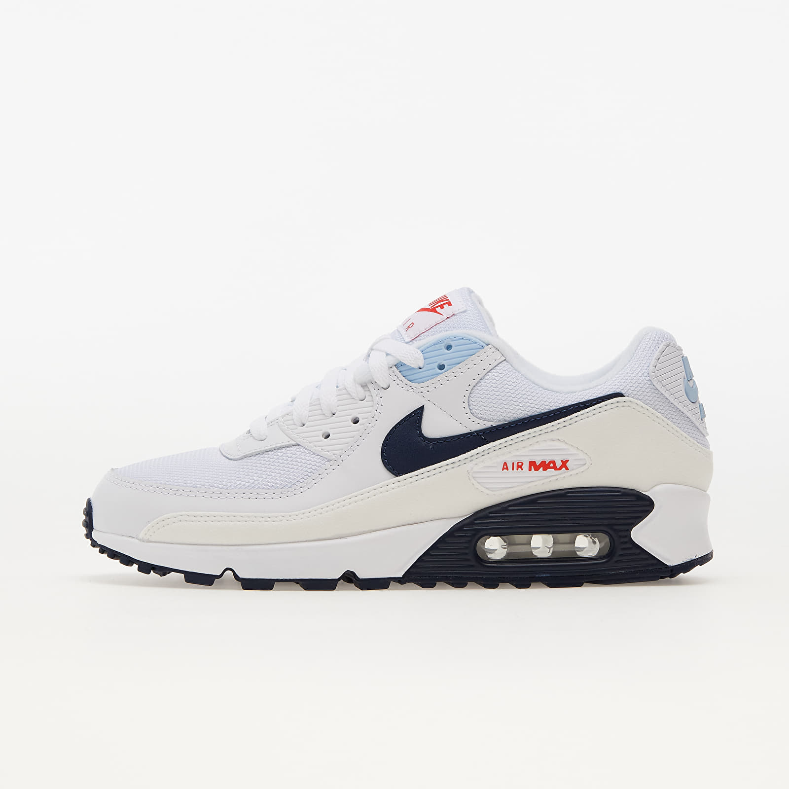 Nike Air Max 90 White/ Midnight Navy-Chile Red EUR 42.5