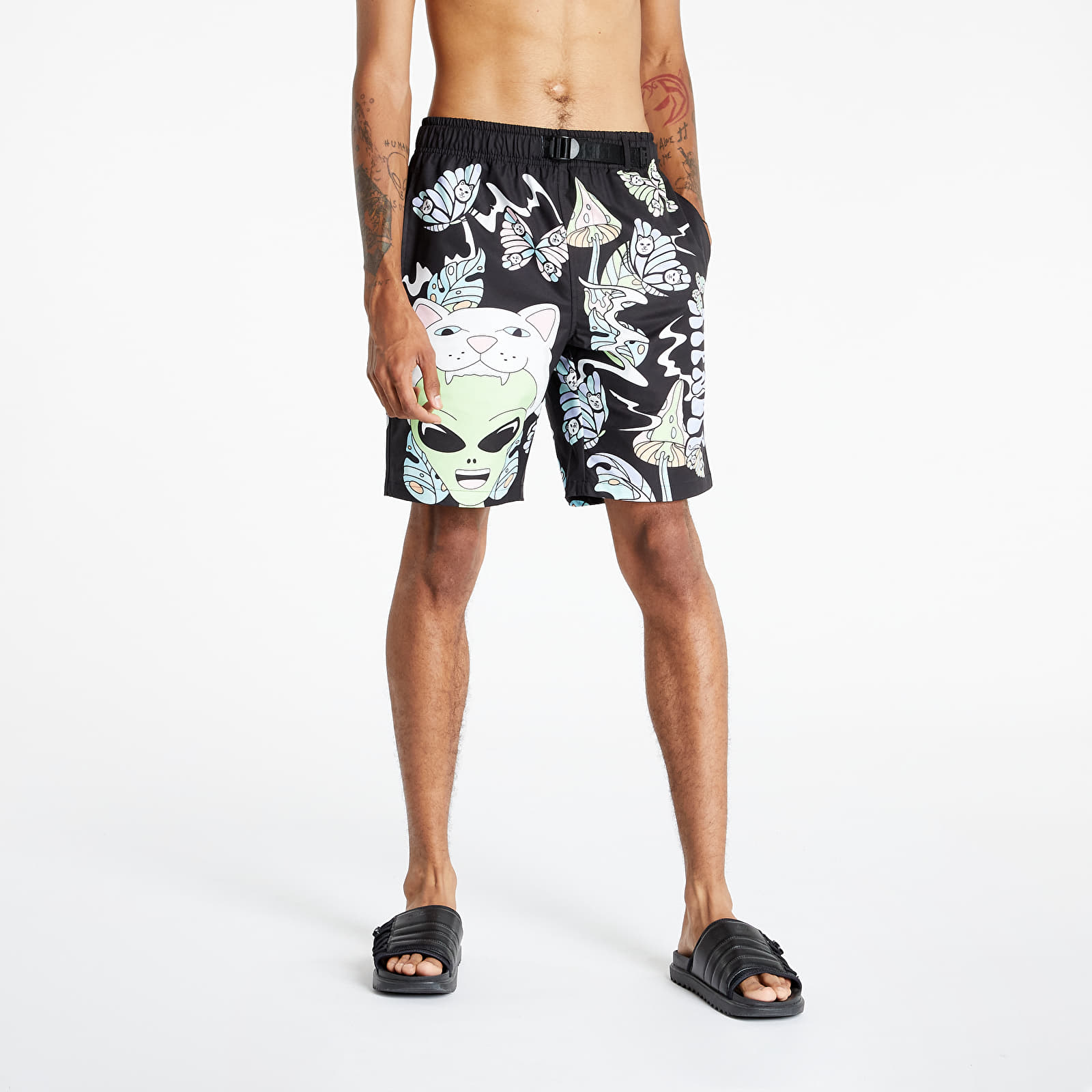 RIPNDIP Think Factory Swim Shorts Black