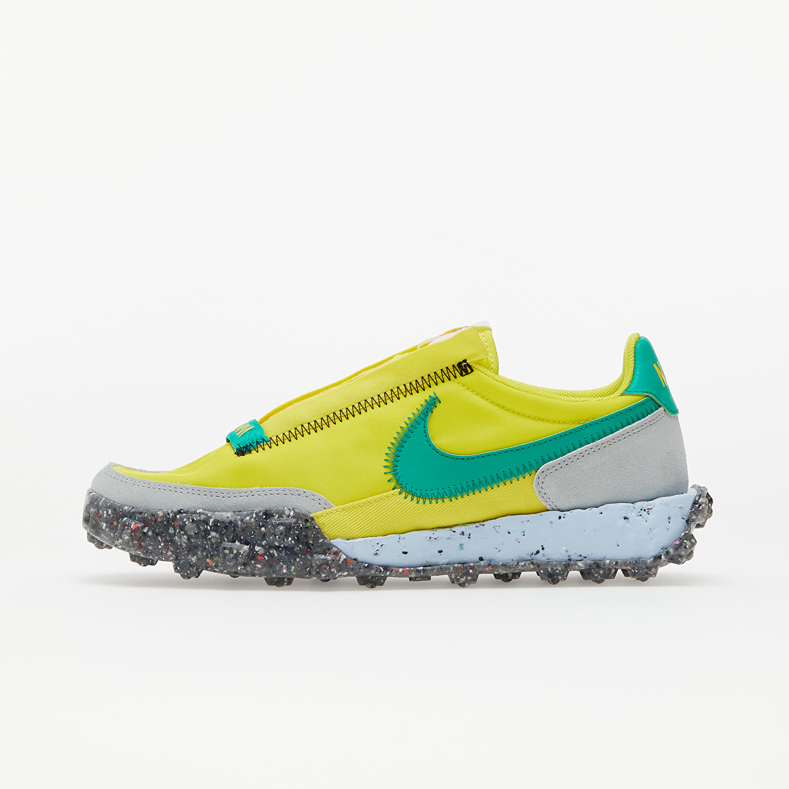 Nike W Waffle Racer Crater Yellow Strike/ Roma Green-Photon Dust EUR 38.5