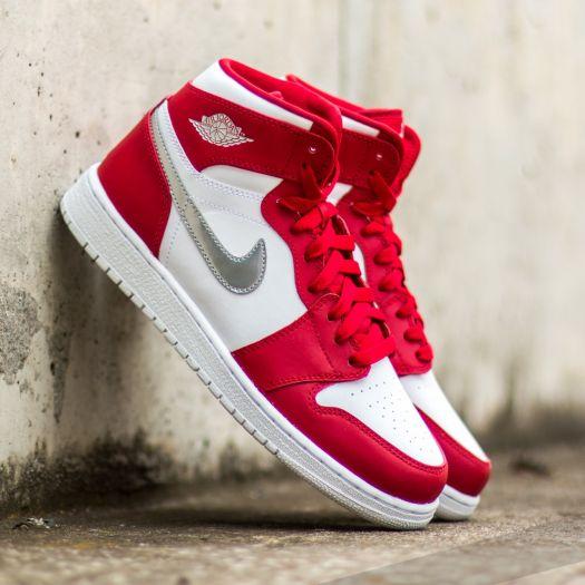 Air Jordan 1 Retro High (BG) Gym Red  Metallic Silver-White  2d80f87ff4