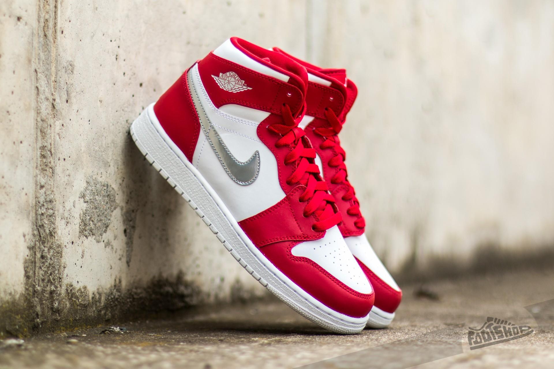 Air Jordan 1 Retro High (BG) Gym Red Metallic Silver White | Footshop