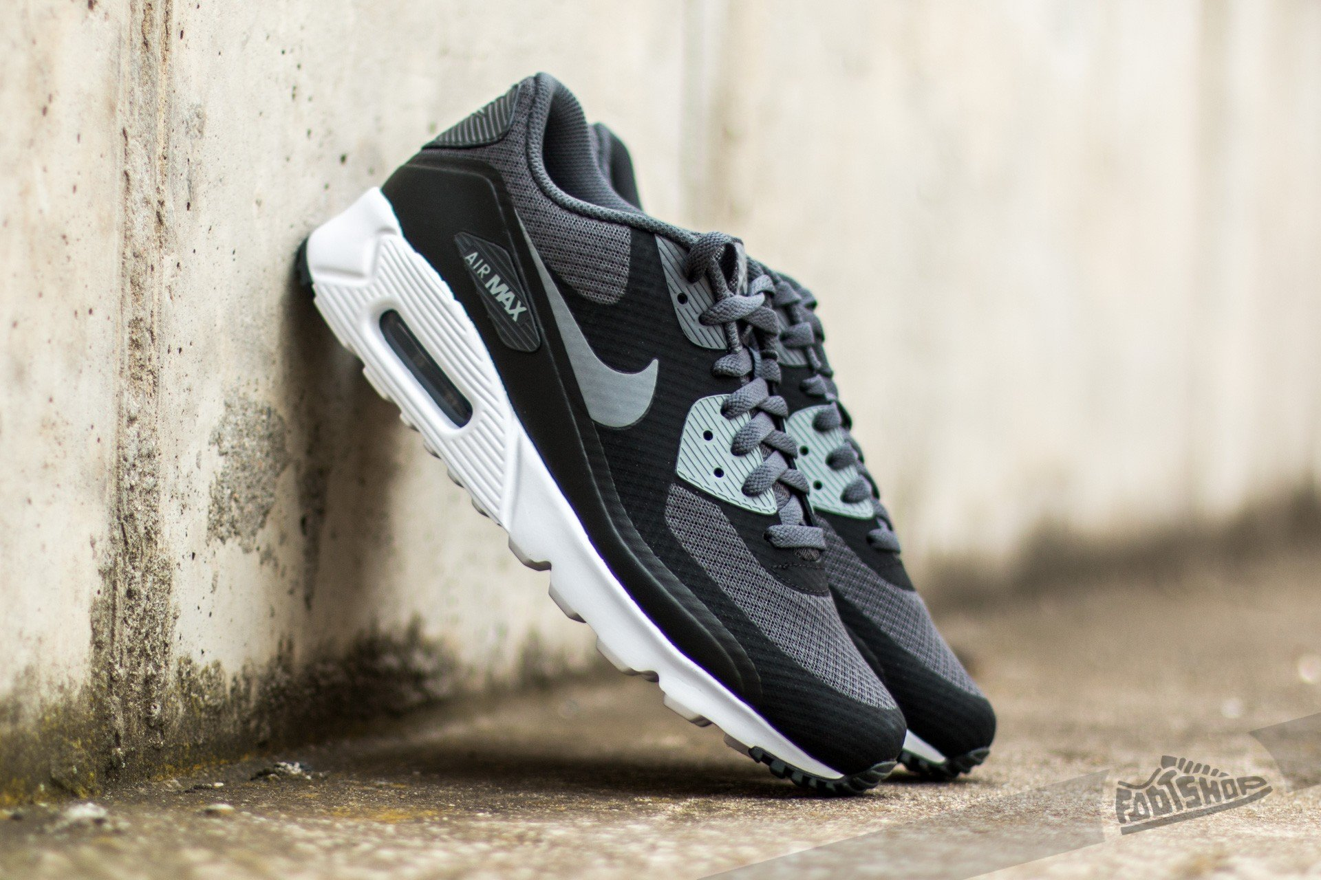 Nike Air Max 90 Ultra Essential Black  Cool Grey-Anthracite-White ... a04b6070a4ba