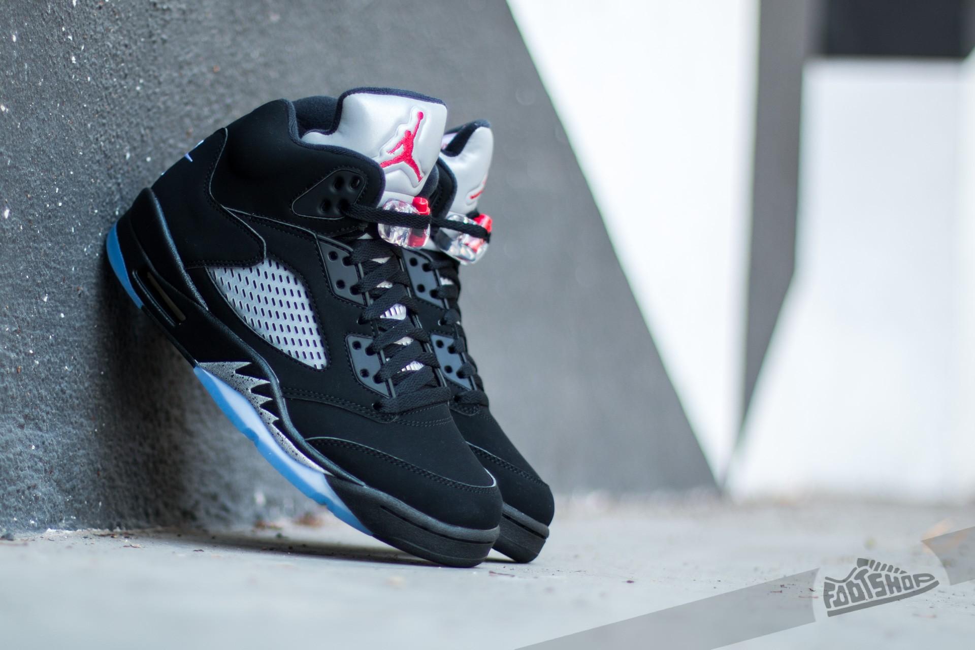 sports shoes e5c85 6b46d Air Jordan 5 Retro OG Black/ Fire Red-Metallic-Silver-White ...