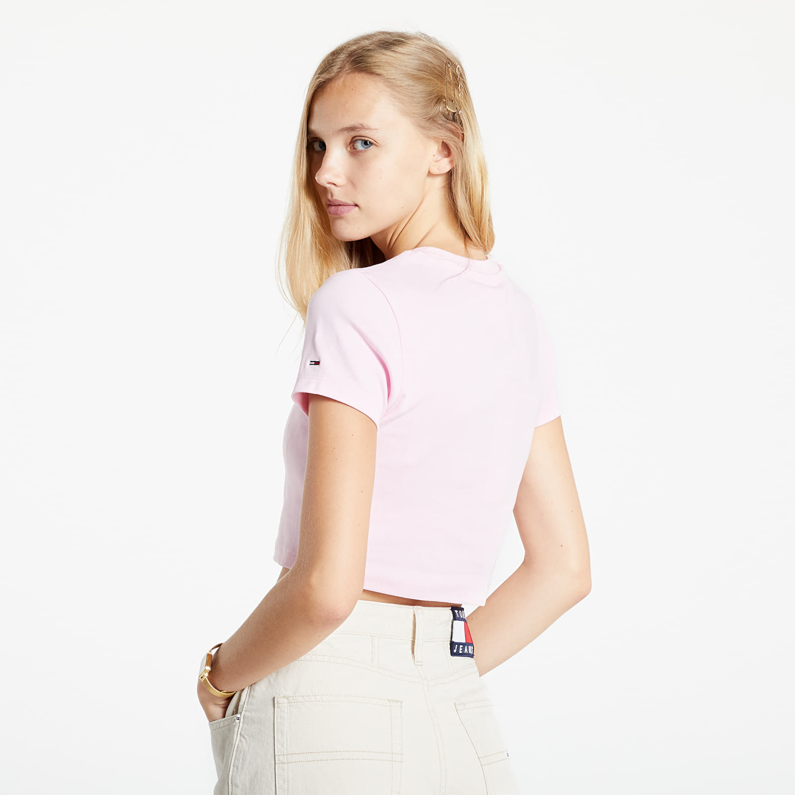 Tommy Jeans Baby Crop Tiny Tommy 2 Tee Romantic Pink