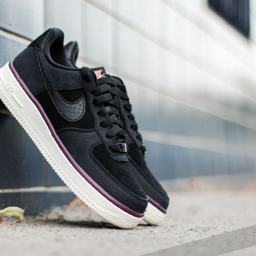 Nike Wmns Air Force 1 '07 Suede Black Black Sail | Footshop