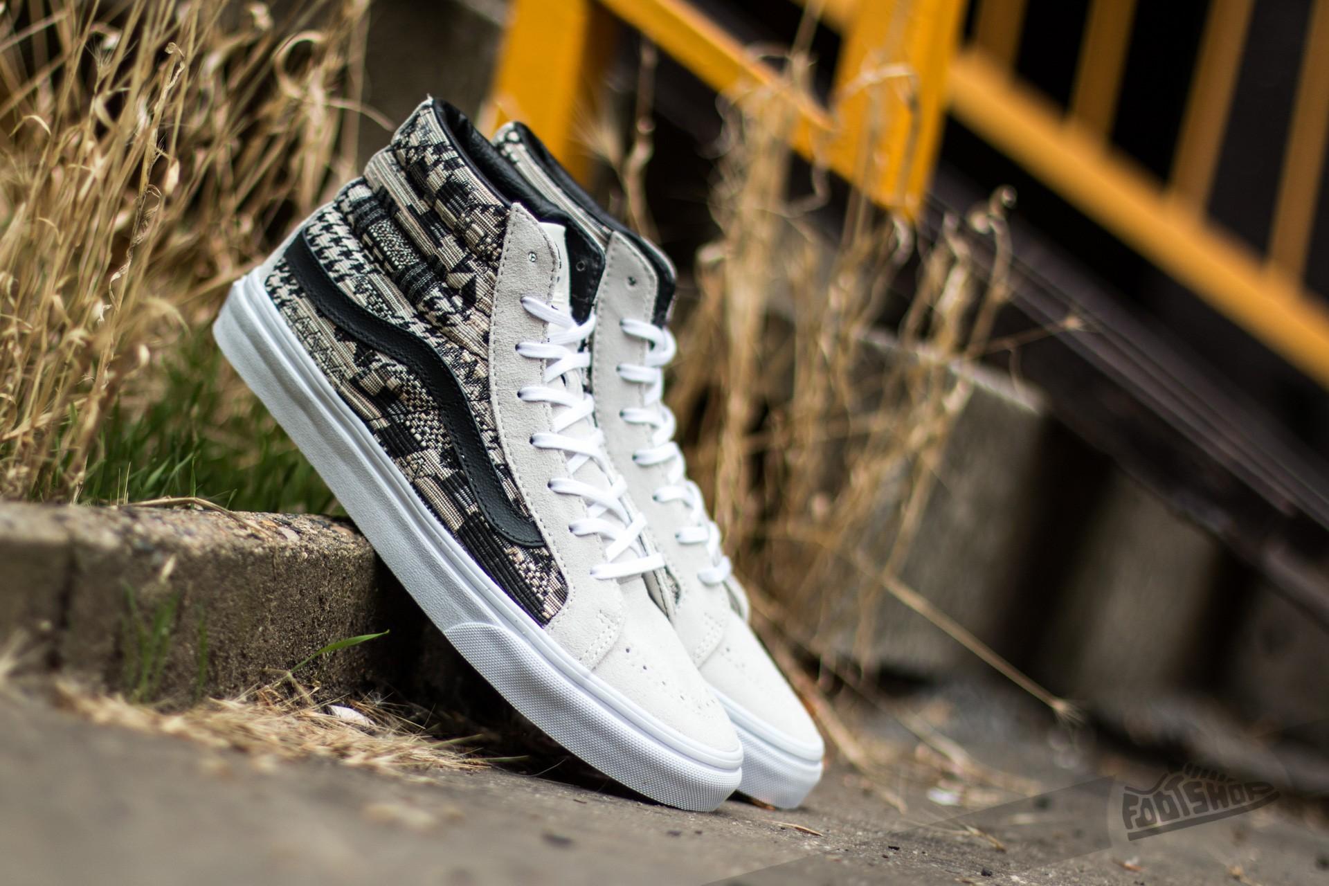 a6ba8d187a Vans Sk8-Hi Slim (Italian Weave) White  Black