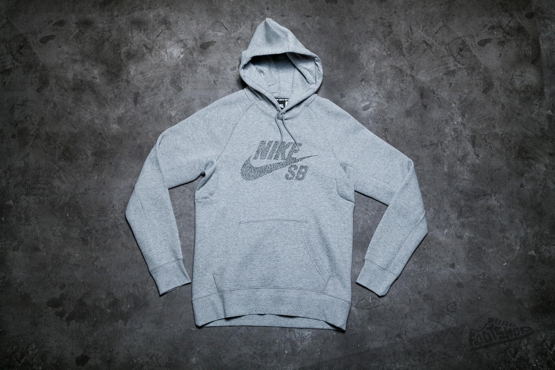 15638c8c8a86 Nike SB Icon Dots Sweatshirt Dark Grey Heather/ Black   Footshop