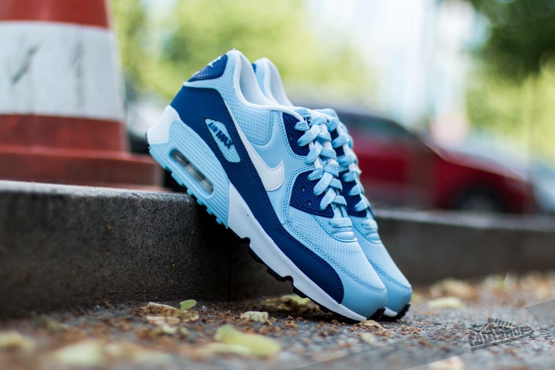 5408d8a1e8d1 Nike Air Max 90 Mesh (GS) Bluecap  White-Deep Royal Blue-Black ...