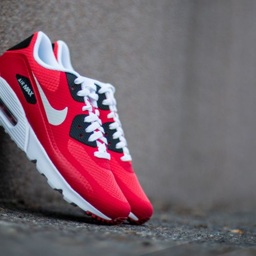 Nike Air Max 90 Ultra Essential Action Red Pure Platinum Gym Red Black | Footshop