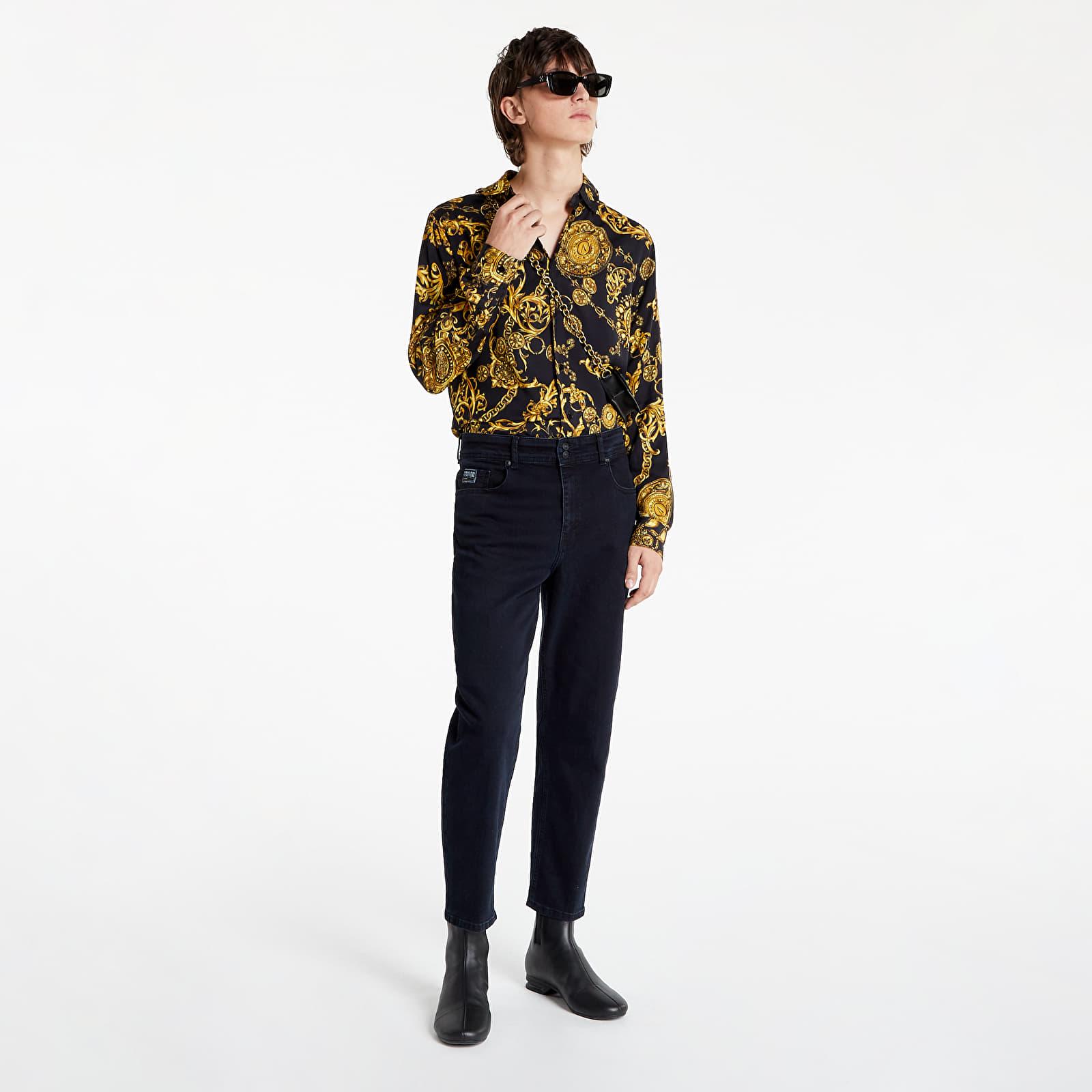 Levně Versace Jeans Couture 5 Tasche Blu Black