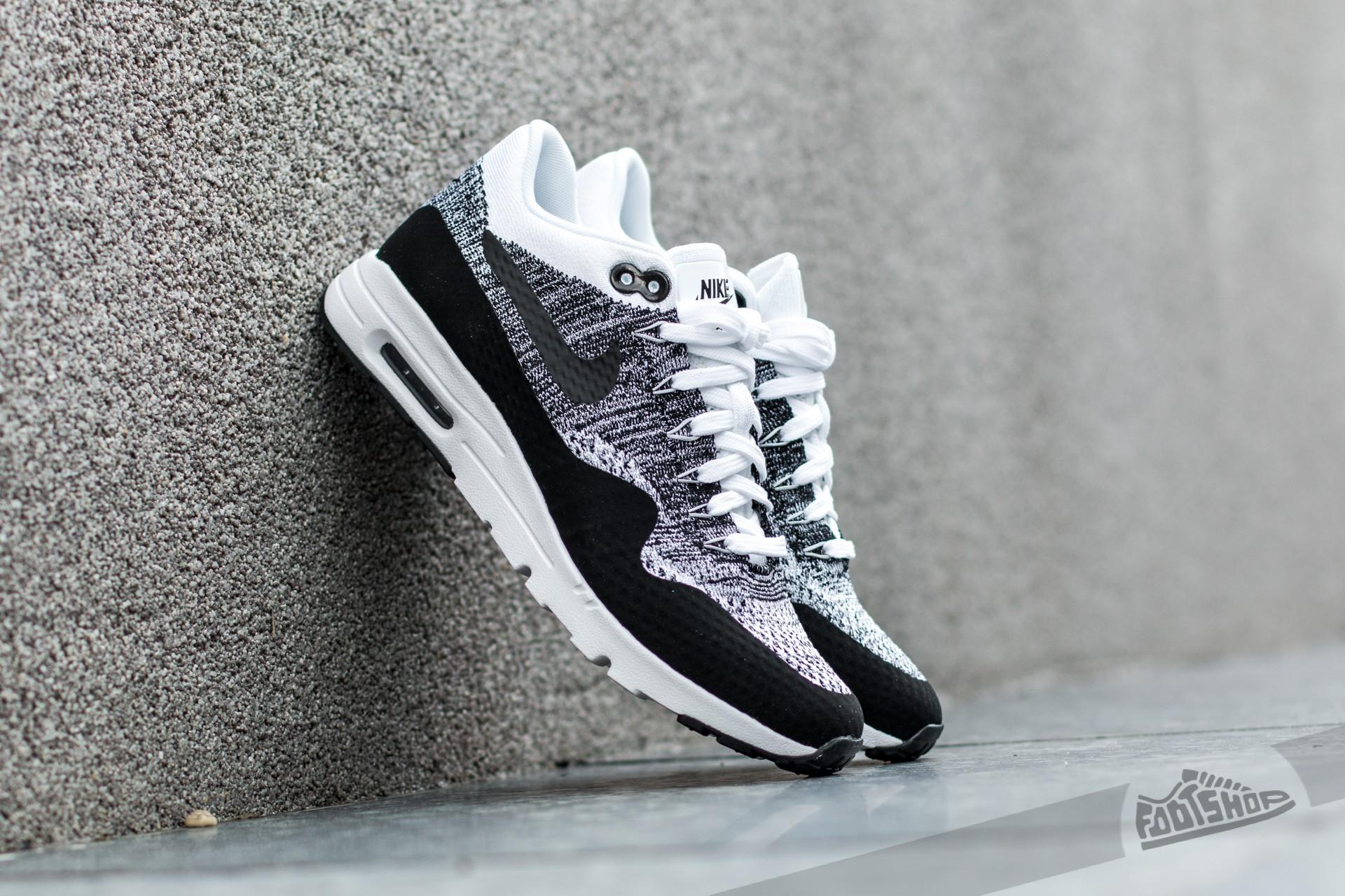 paridad violación Oclusión  Women's shoes Nike W Air Max 1 Ultra Flyknit White/ Black-Black | Footshop