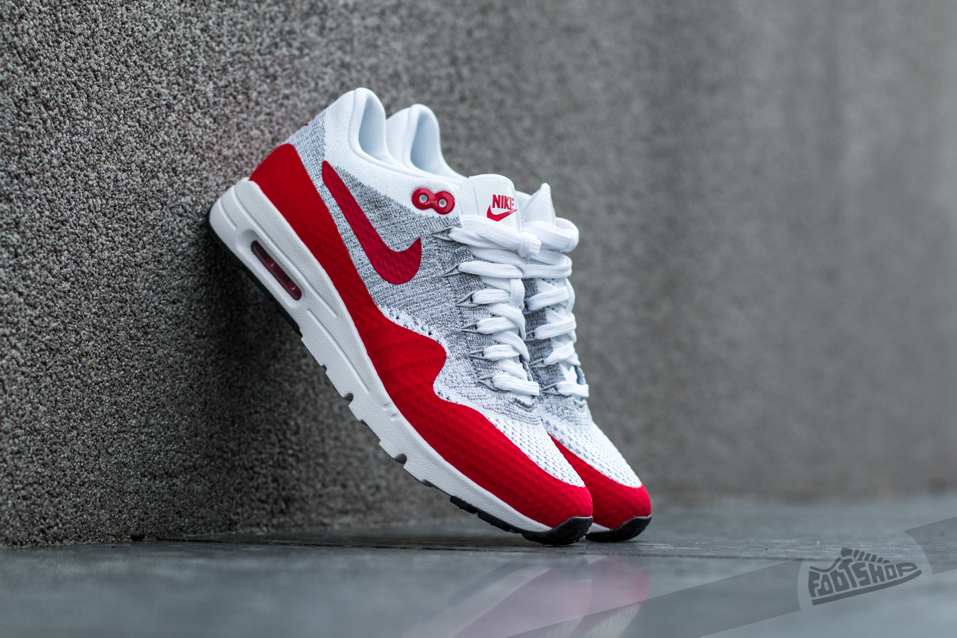 b7b0fcefe1 Nike W Air Max 1 Ultra Flyknit White/ University Red-Pure Platinum ...