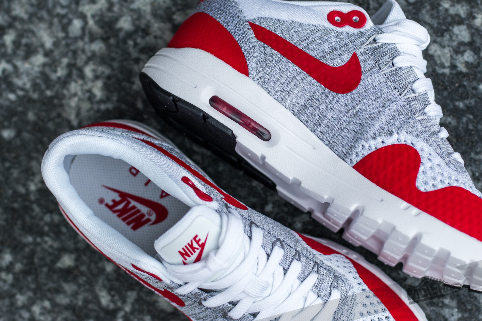 Nike W Air Max 1 Ultra Flyknit White University Red Pure