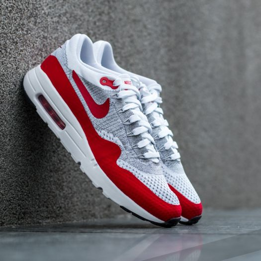 Air Max 1 White & University Red