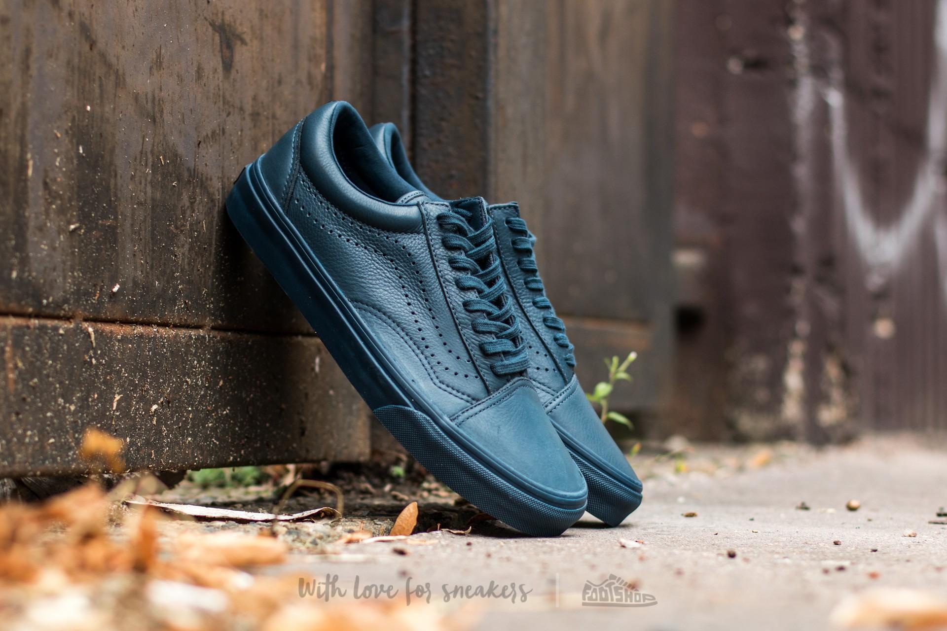 Vans Old Skool Reissue (Leather) Midnight Navy | Footshop