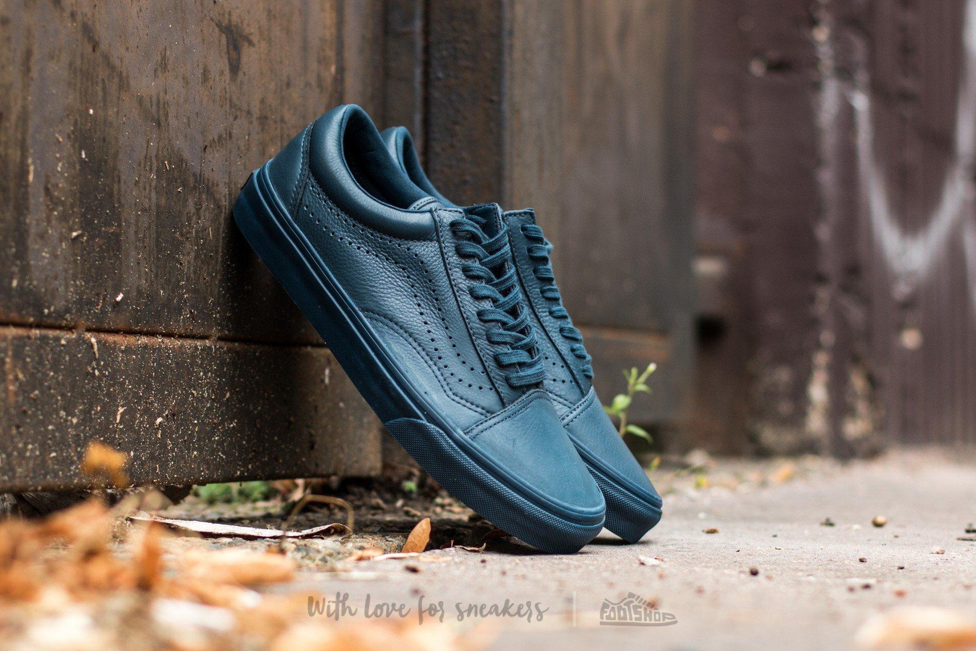 79f5d16978 Vans Old Skool Reissue (Leather) Midnight Navy
