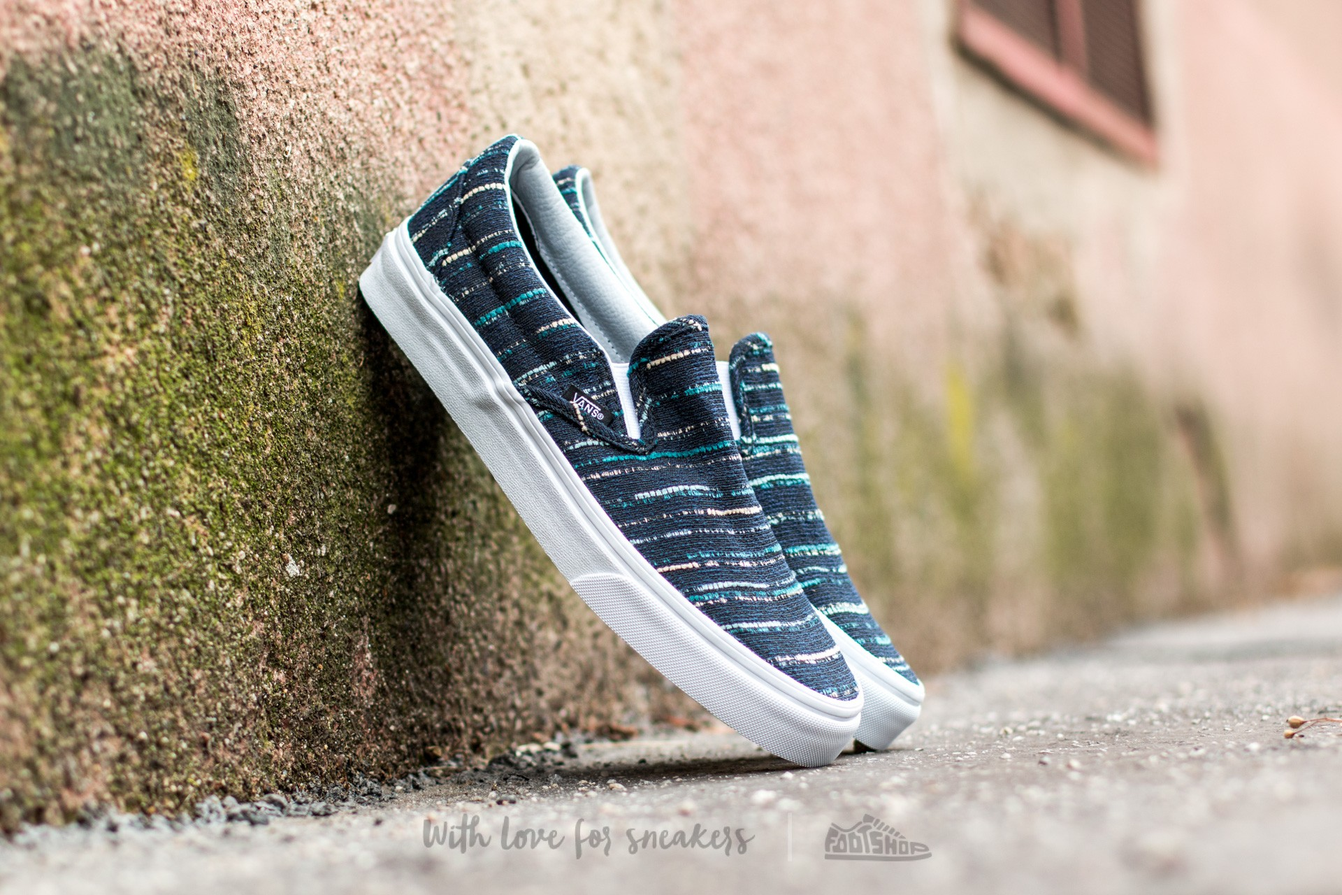 347e767e7b Vans Classic Slip-On (Italian Weave) Black  Multi