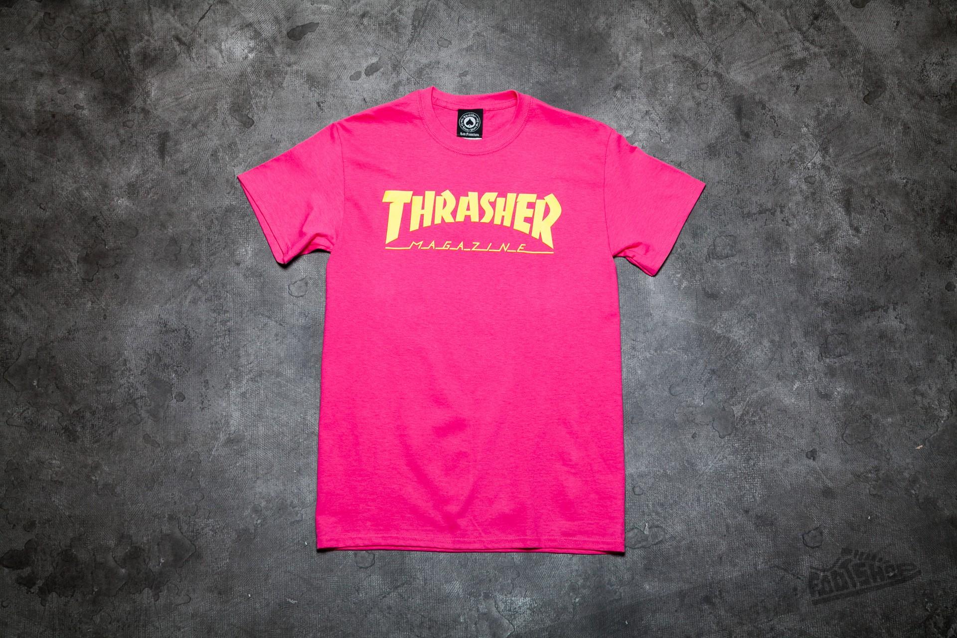 4f5c78a8b7d Thrasher Magazine Logo T-shirt Pink