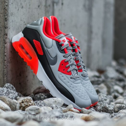 AIR MAX 90 LTR (GS) WHITEUNIVERSITY RED BLACK WOLF GREY