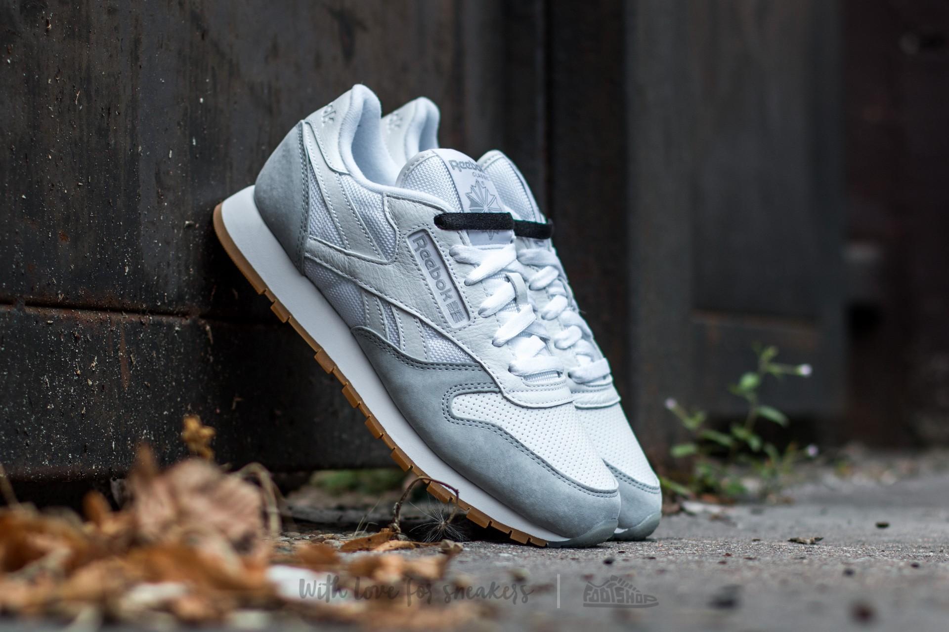 b04ad7b831fb Reebok Classic Leather Perfect Split White  Grey  Black