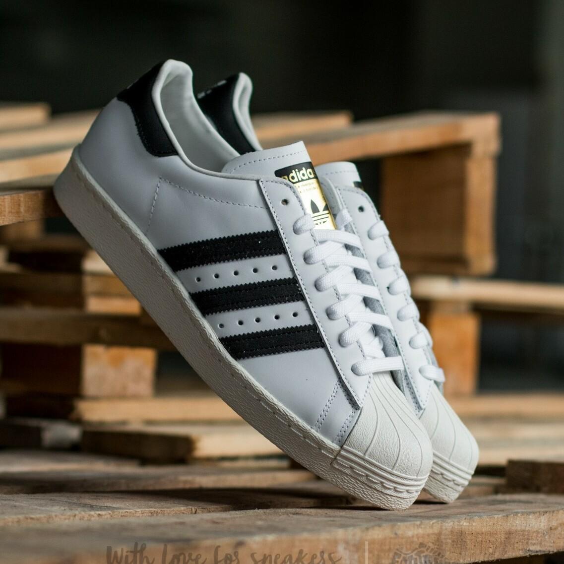 adidas Superstar 80s White/Black1/Chalk2 EUR 48