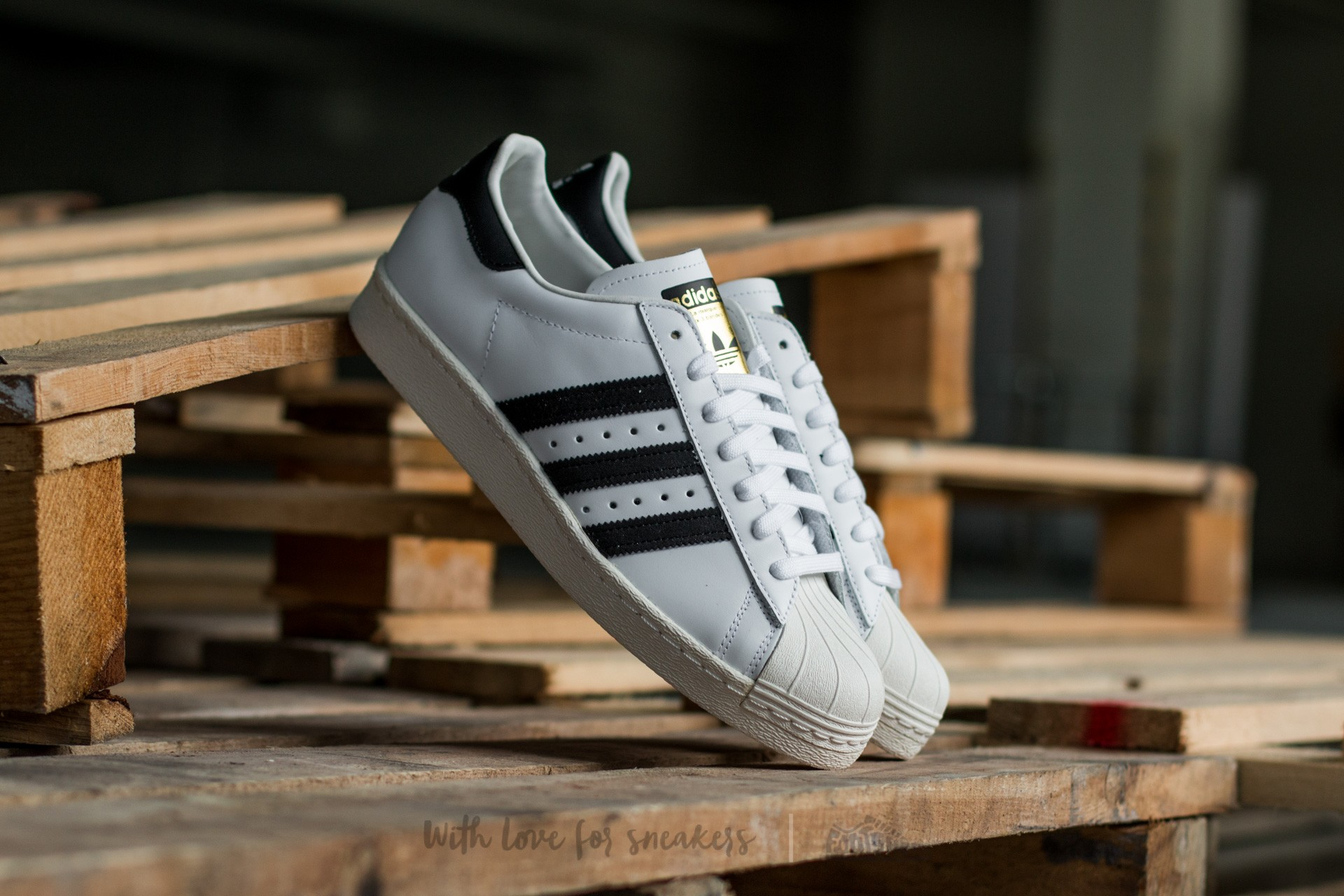 Férfi cipők adidas Superstar 80s White/Black1/Chalk2