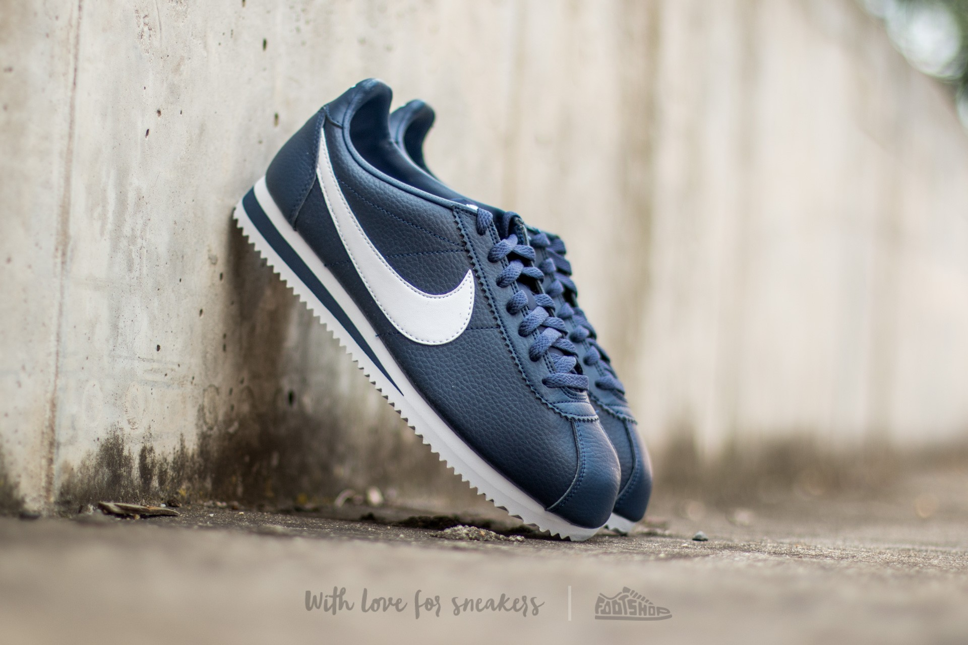 more photos bb51b 9c48f Nike Classic Cortez Leather Midnight Navy/ White | Footshop