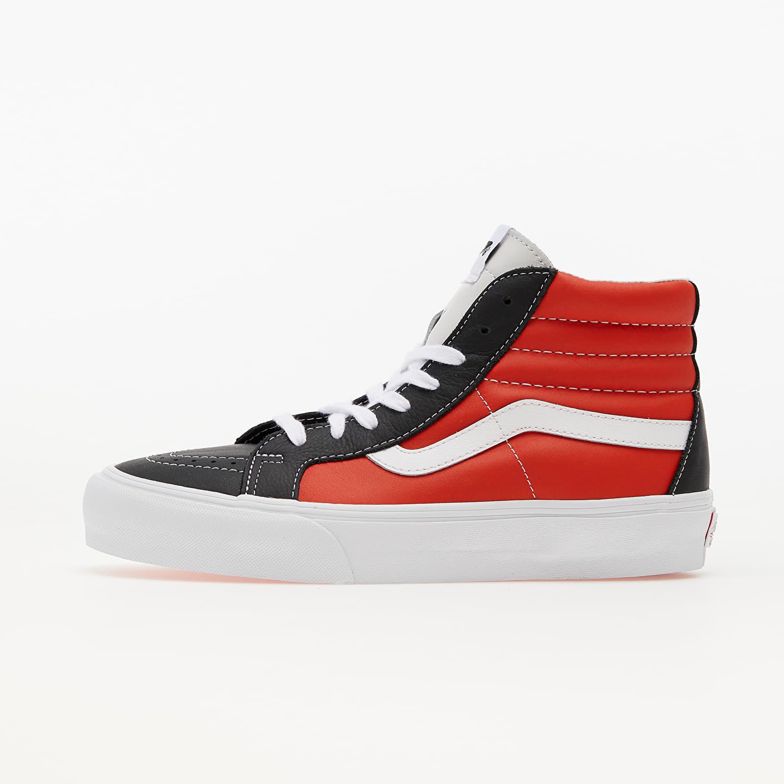 Vans Sk8-Hi Reissue Vlt (Leather) Black/ Orange/ White EUR 43