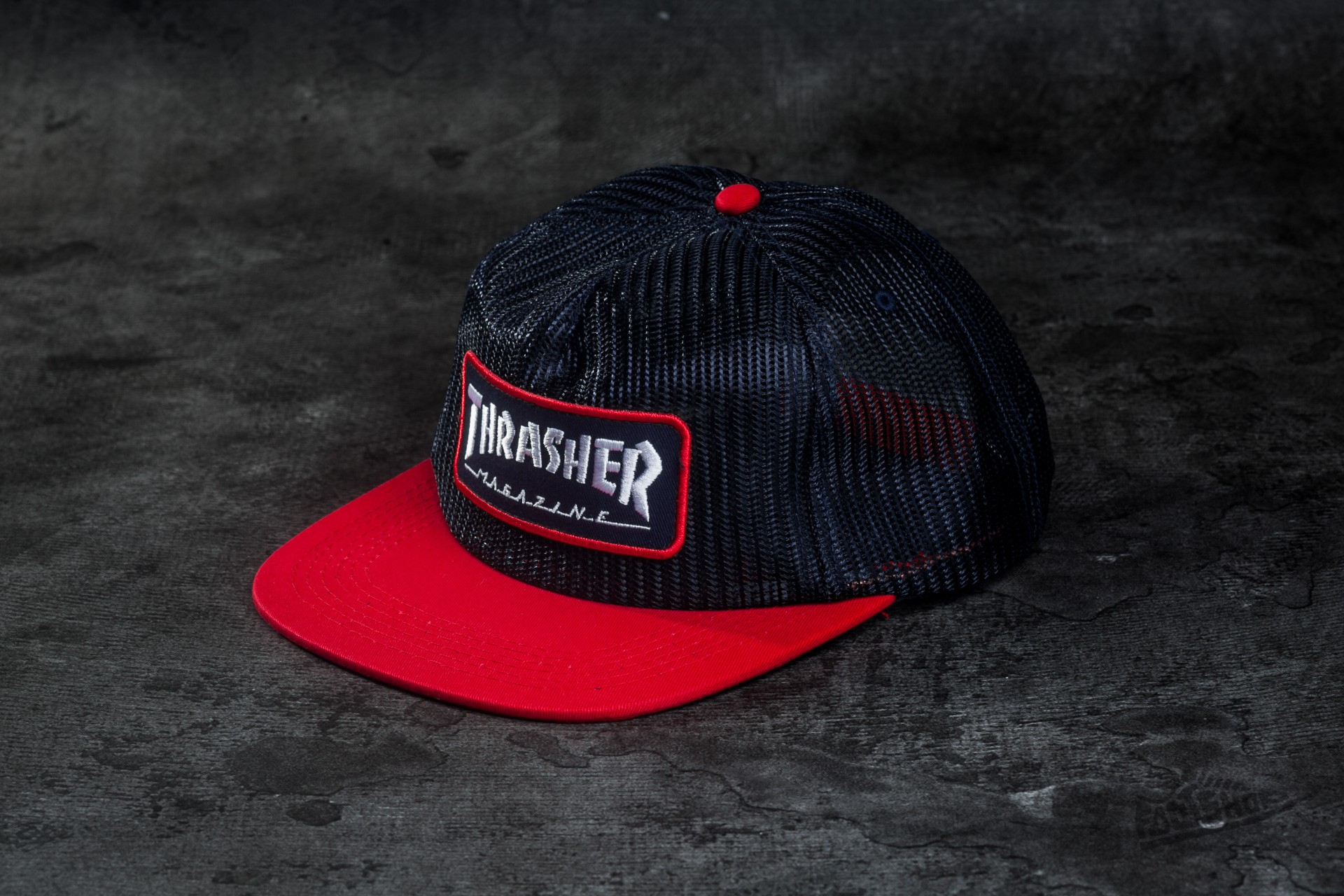 Thrasher Magazine Logo Mesh Blue  Red  6ee53ffc806