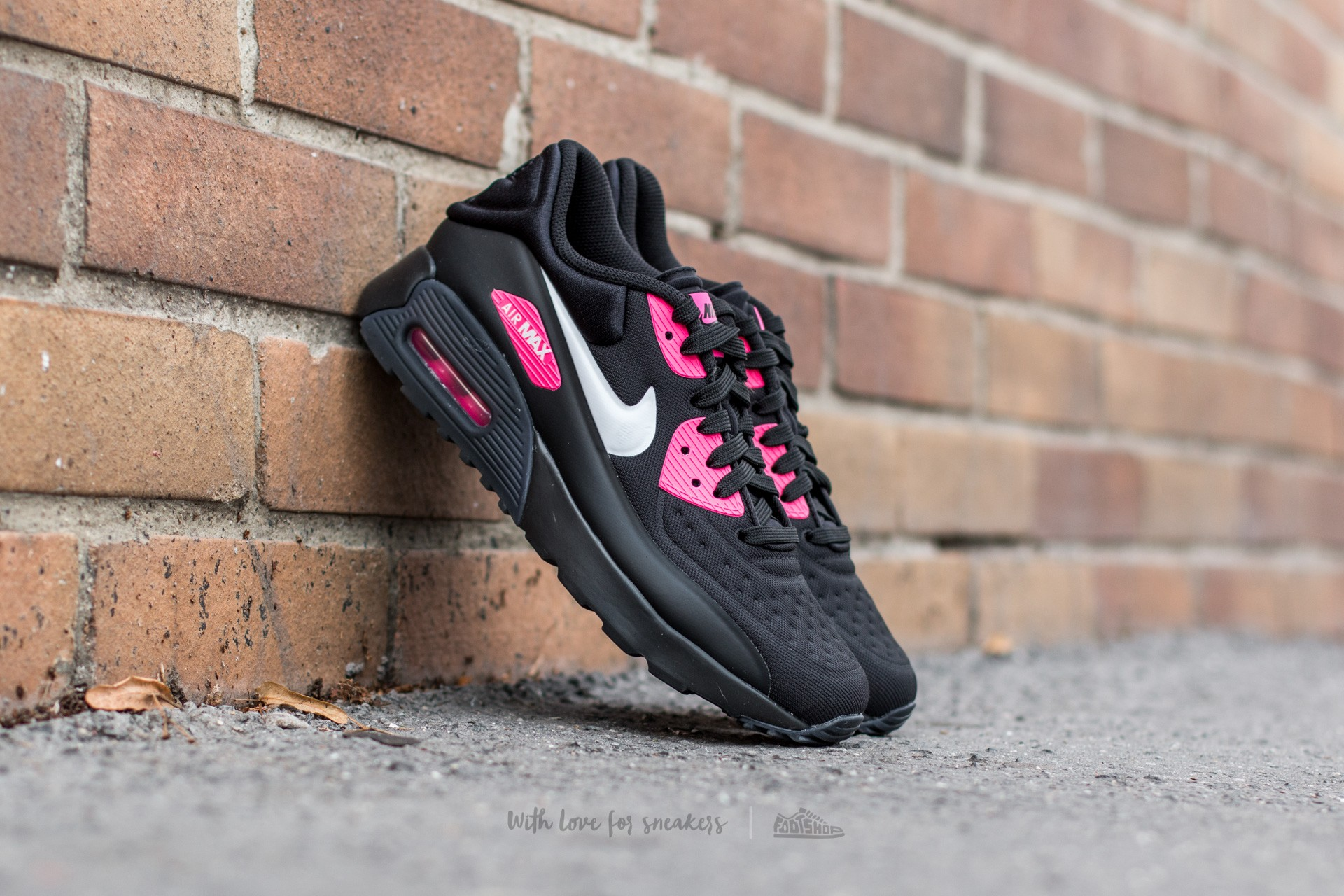 new concept b361b 68717 ... clearance nike air max 90 ultra se gs. black white hyper pink 80685  ee78a