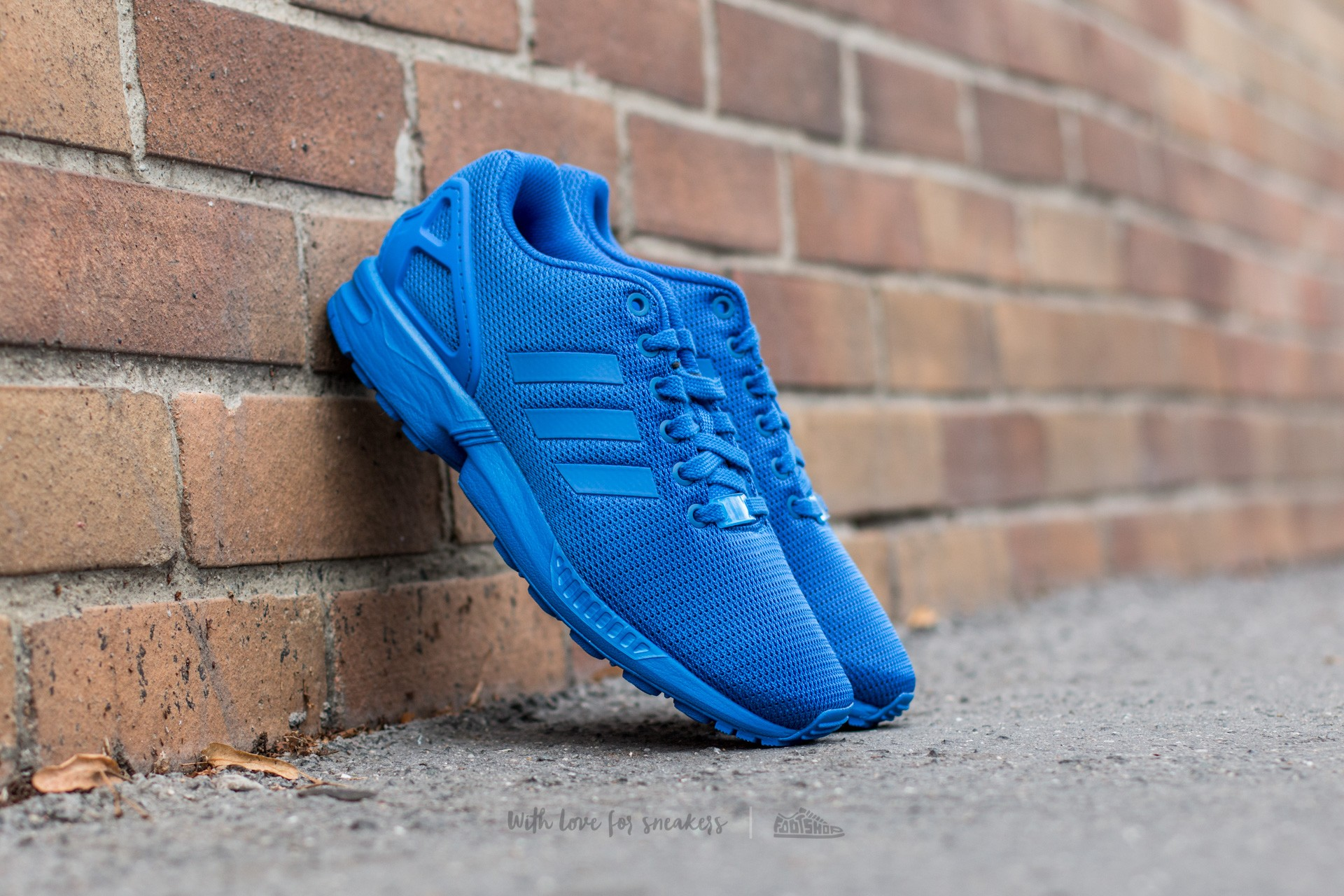 new product ec9bb 58abb adidas ZX Flux Blue  Blue  Bold Blue