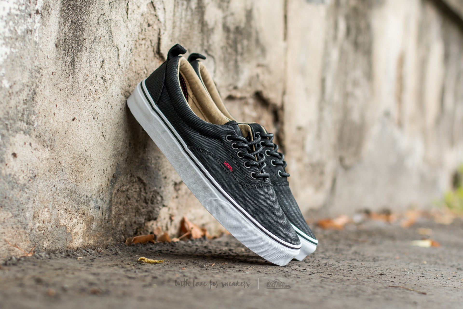 Vans Era PT (Military Twill) Black  True White  68fa93718