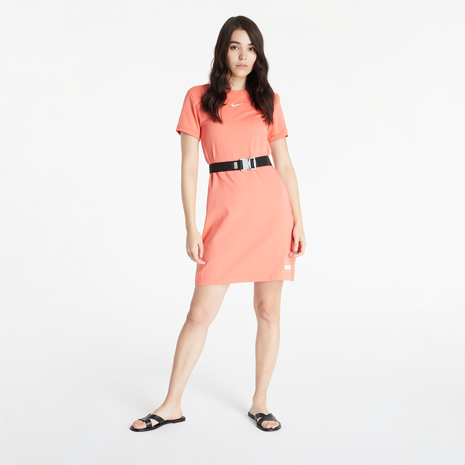 Nike Sportswear Icon Clash Women's Short-Sleeve Dress Magic Ember/ White