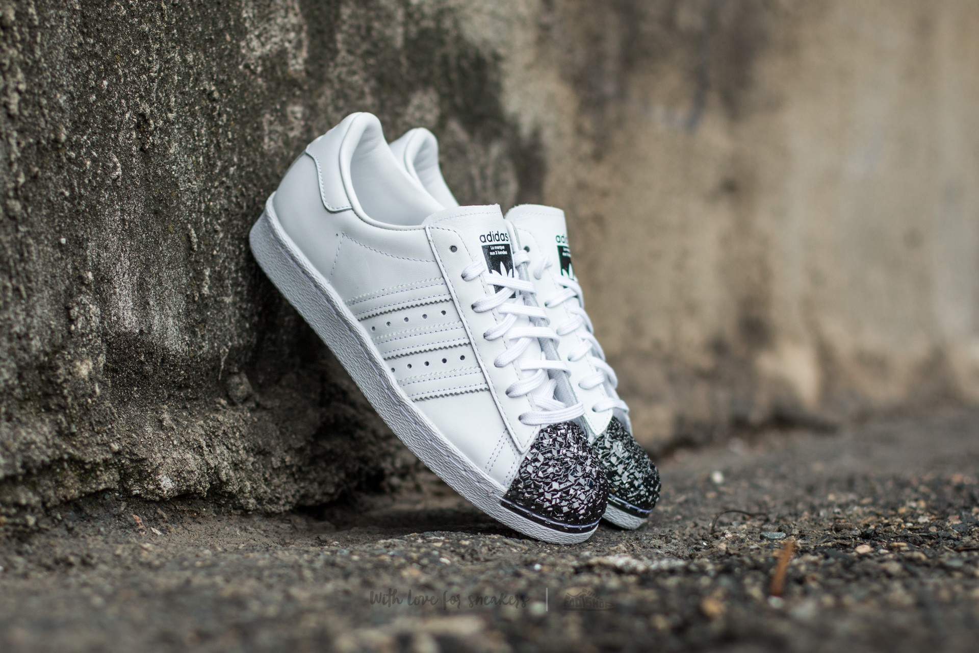 adidas Superstar 80s Metal Toe TF Ftw White Ftw White Core Black | Footshop