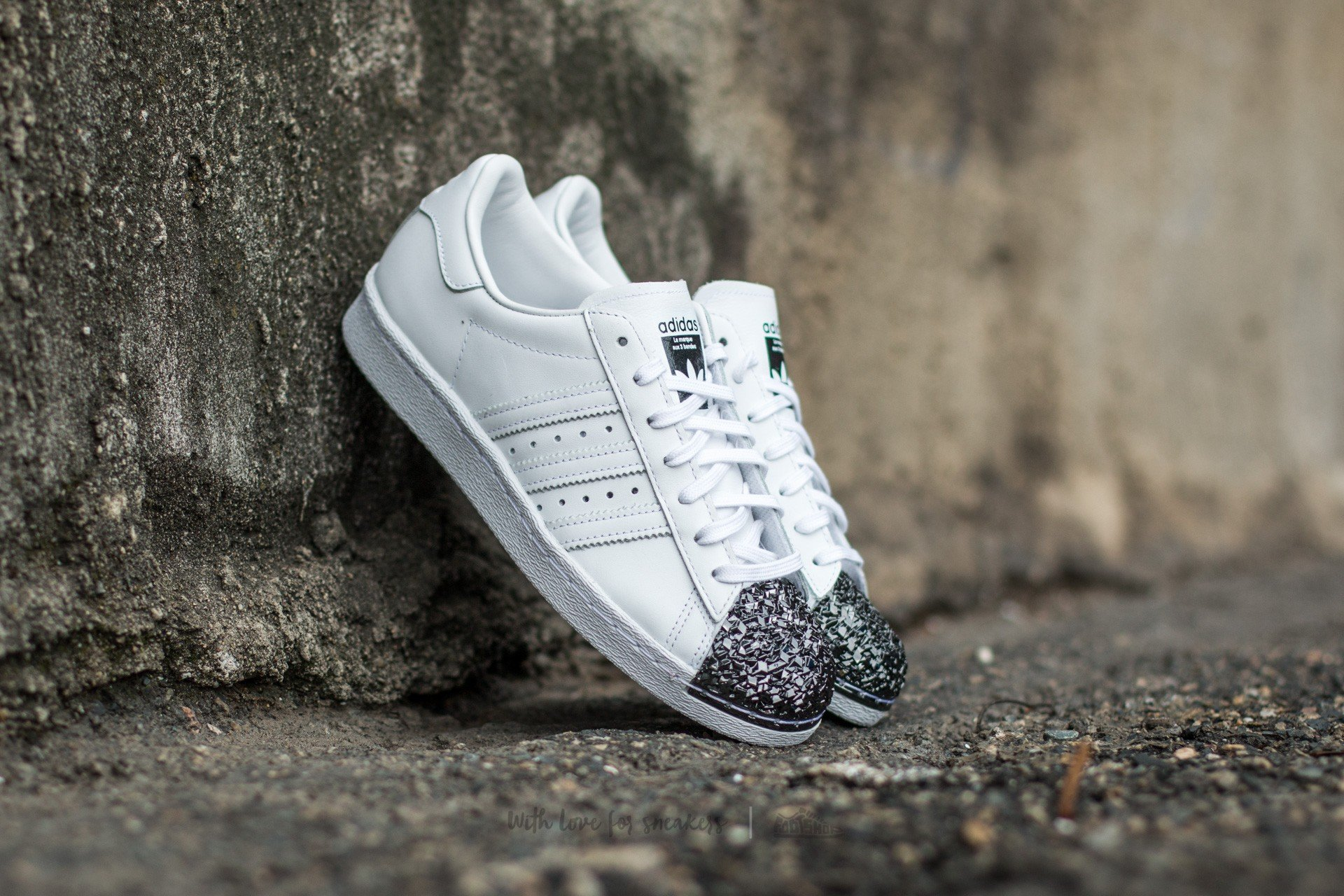 adidas Superstar 80s Metal Toe TF Ftw White  Ftw White  Core Black ... c1ce6b4fb0