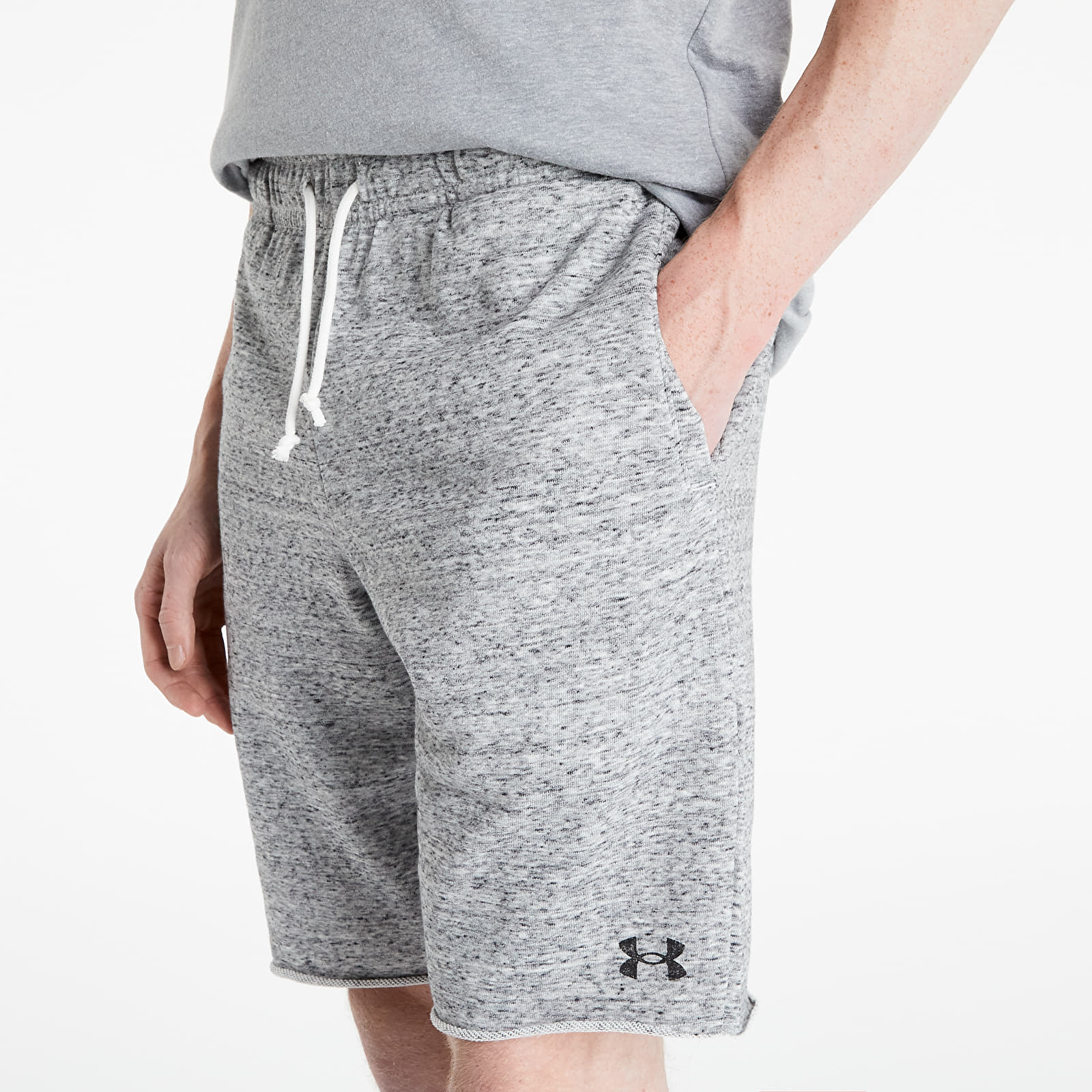 Under Armour Project Rock Terry Shorts Light Grey