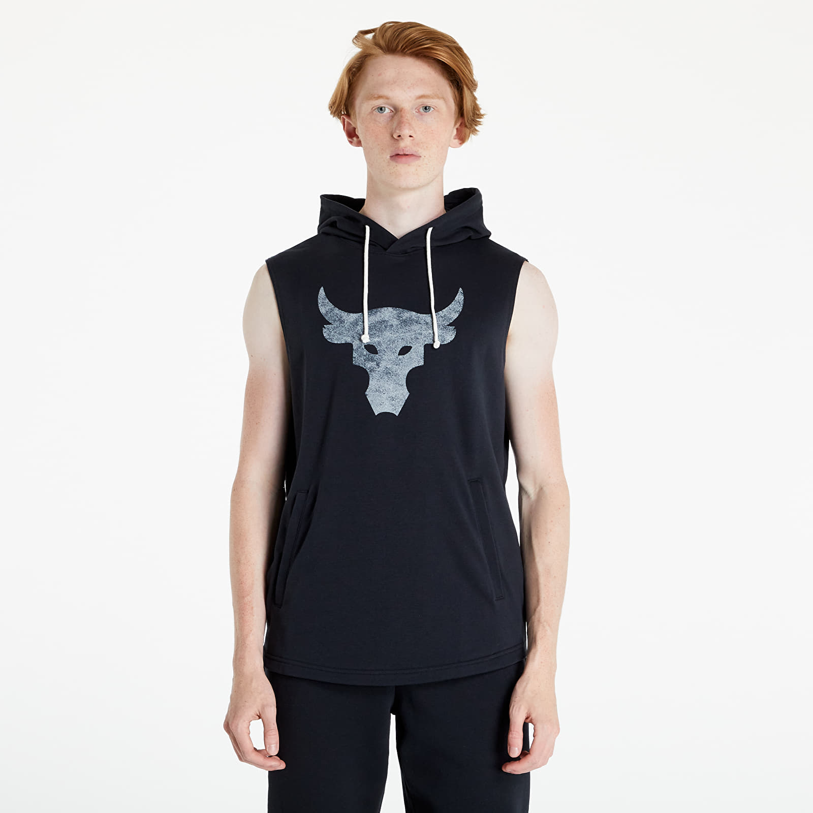 Under Armour Project Rock Terry SL Hooded Top Black