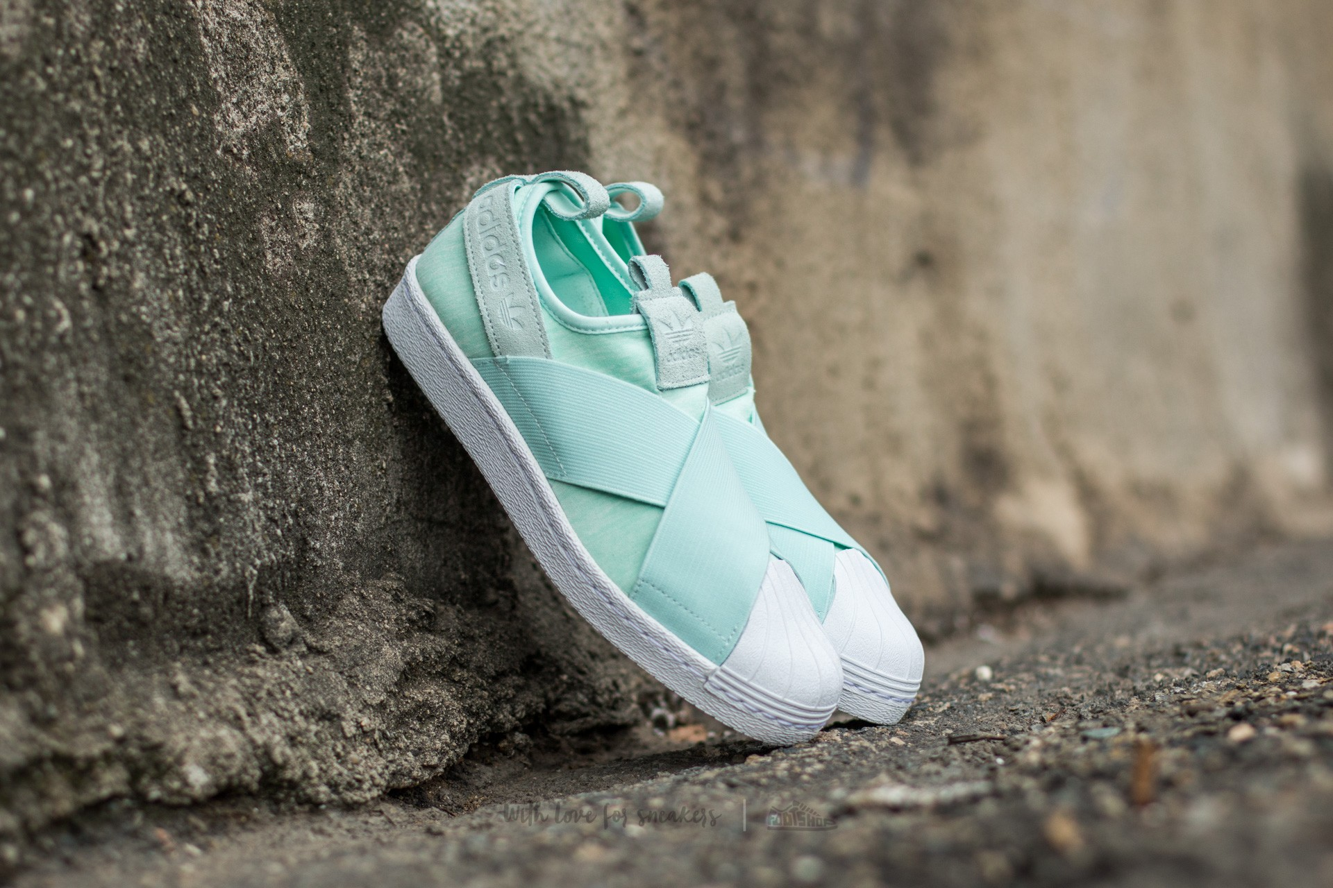 a099fe7b24e5c adidas Superstar Slip On W Ice Mint/ Ice Mint/ Ftw White | Footshop