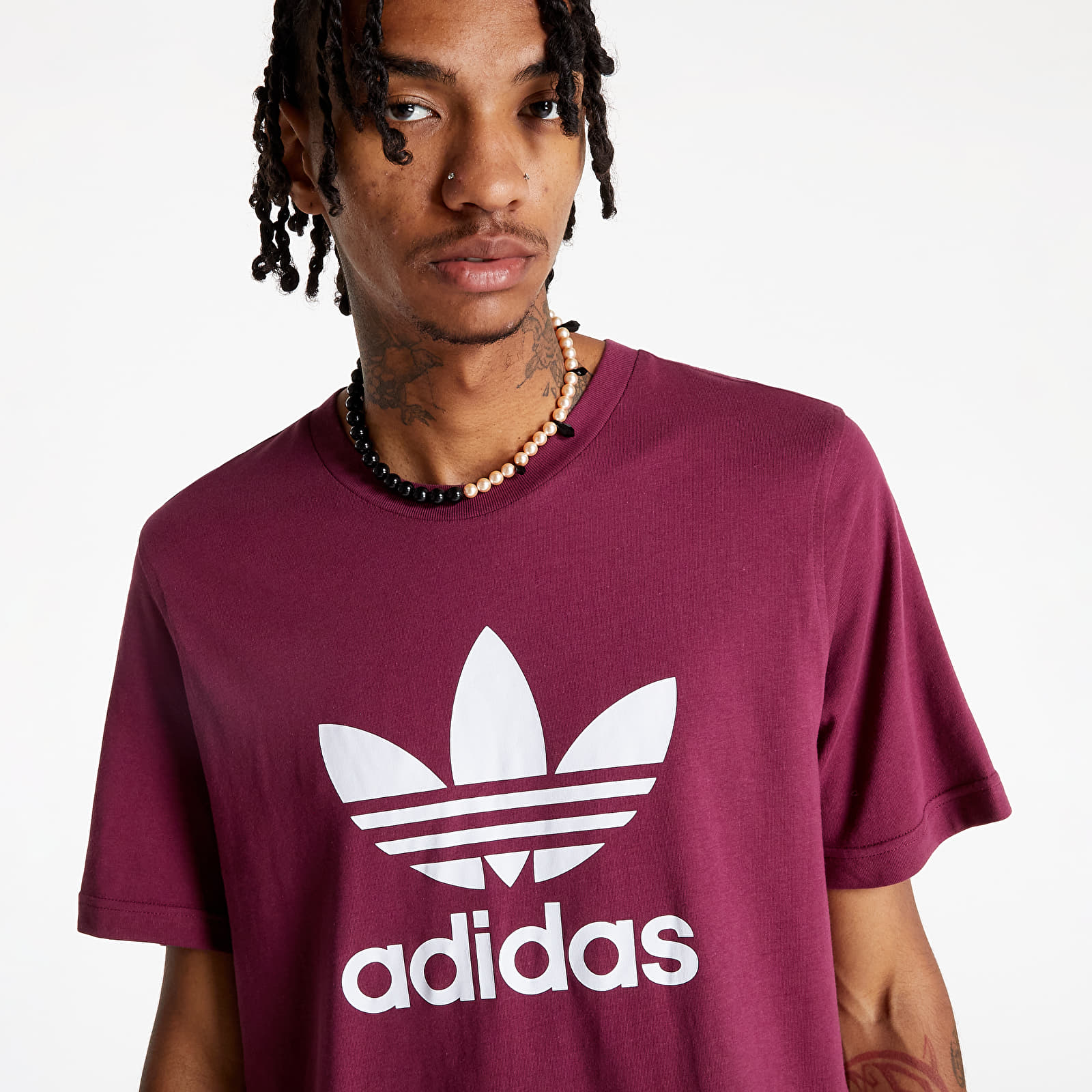 Levně adidas Trefoil T-Shirt Viccri/ White